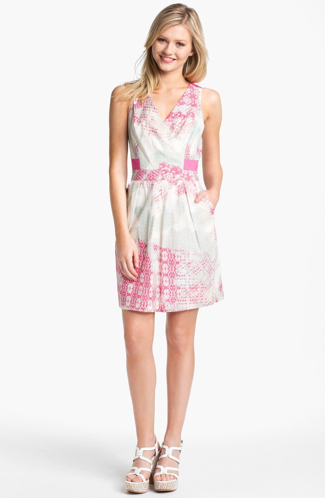 Alternate Image 1 Selected - Jessica Simpson Print Cotton Dress