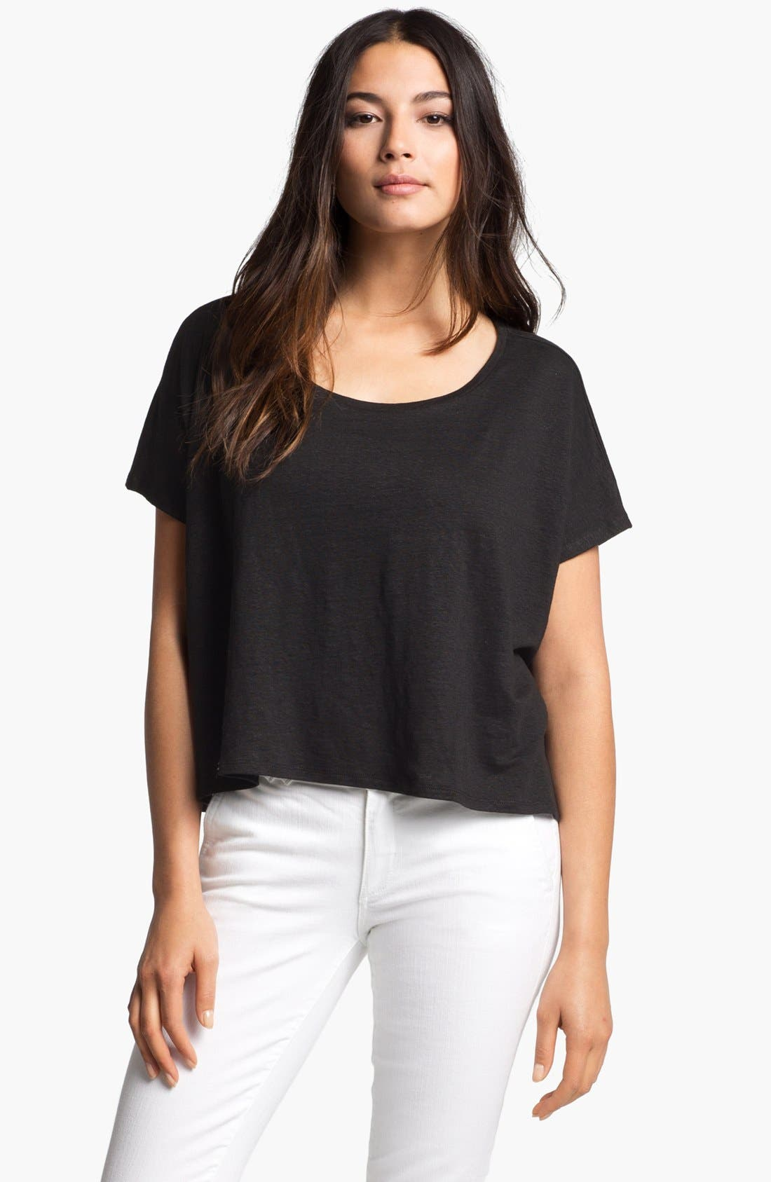 Alternate Image 1 Selected - Eileen Fisher Crop Poncho Top