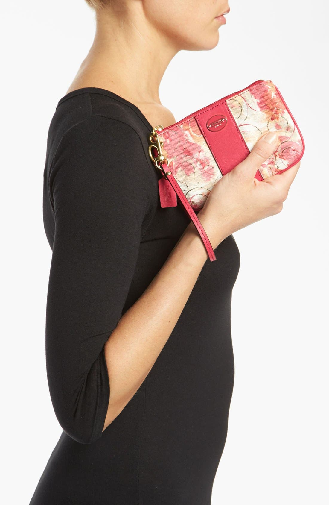Alternate Image 2  - COACH 'Small' Floral Wristlet