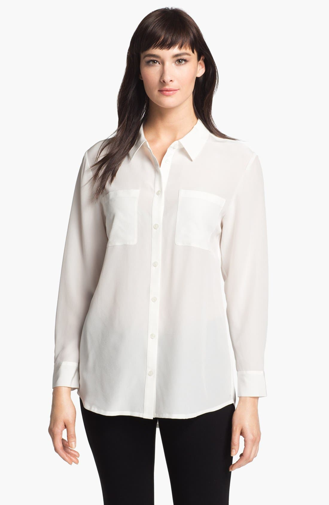 Main Image - Nordstrom Collection 'Novita' Silk Tunic Shirt