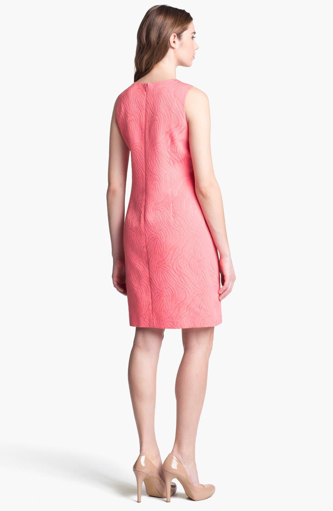 Alternate Image 2  - Ellen Tracy Embellished Jacquard Shift Dress