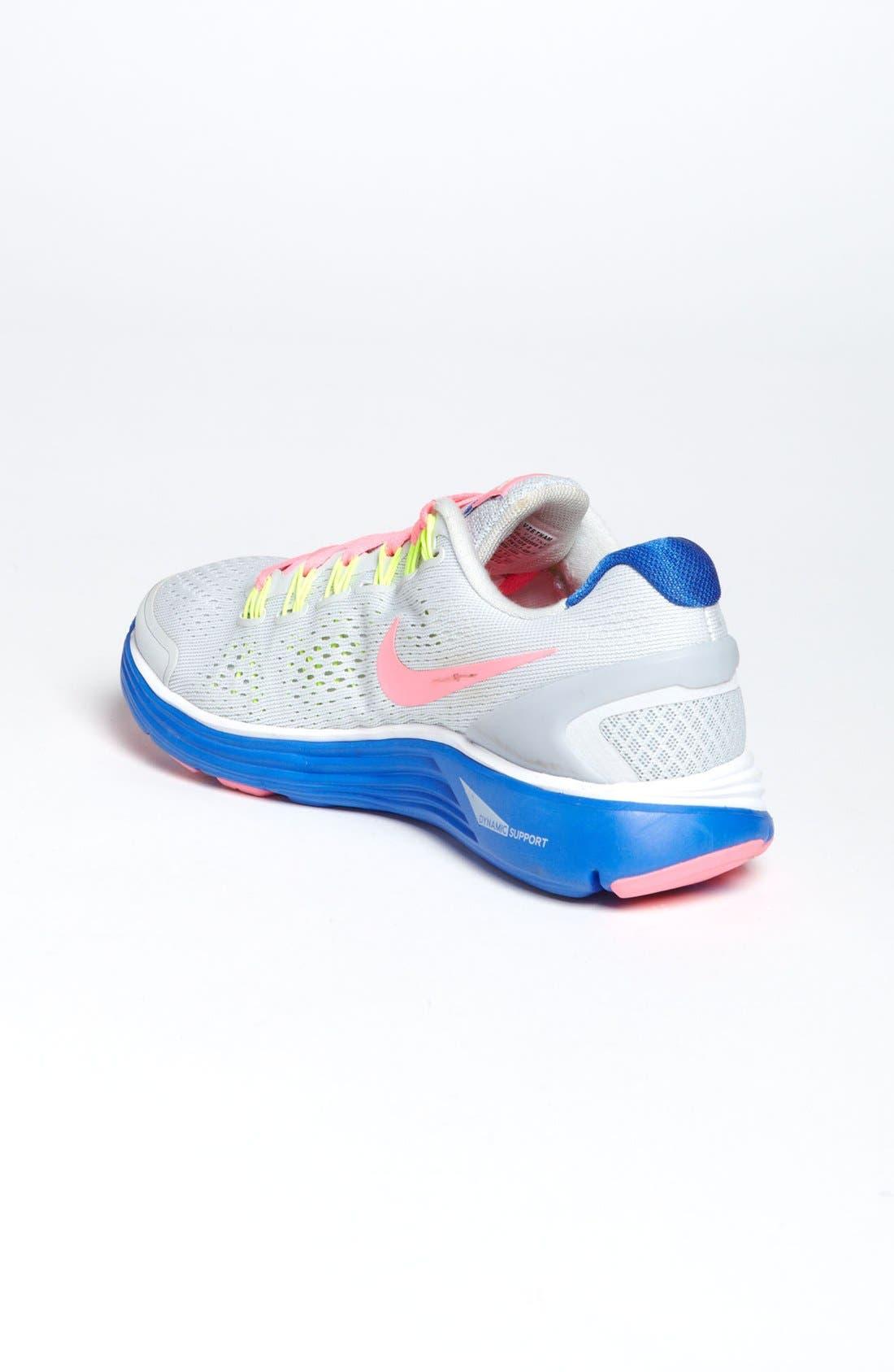 Alternate Image 2  - Nike 'LunarGlide 4' Running Shoe (Big Kid)