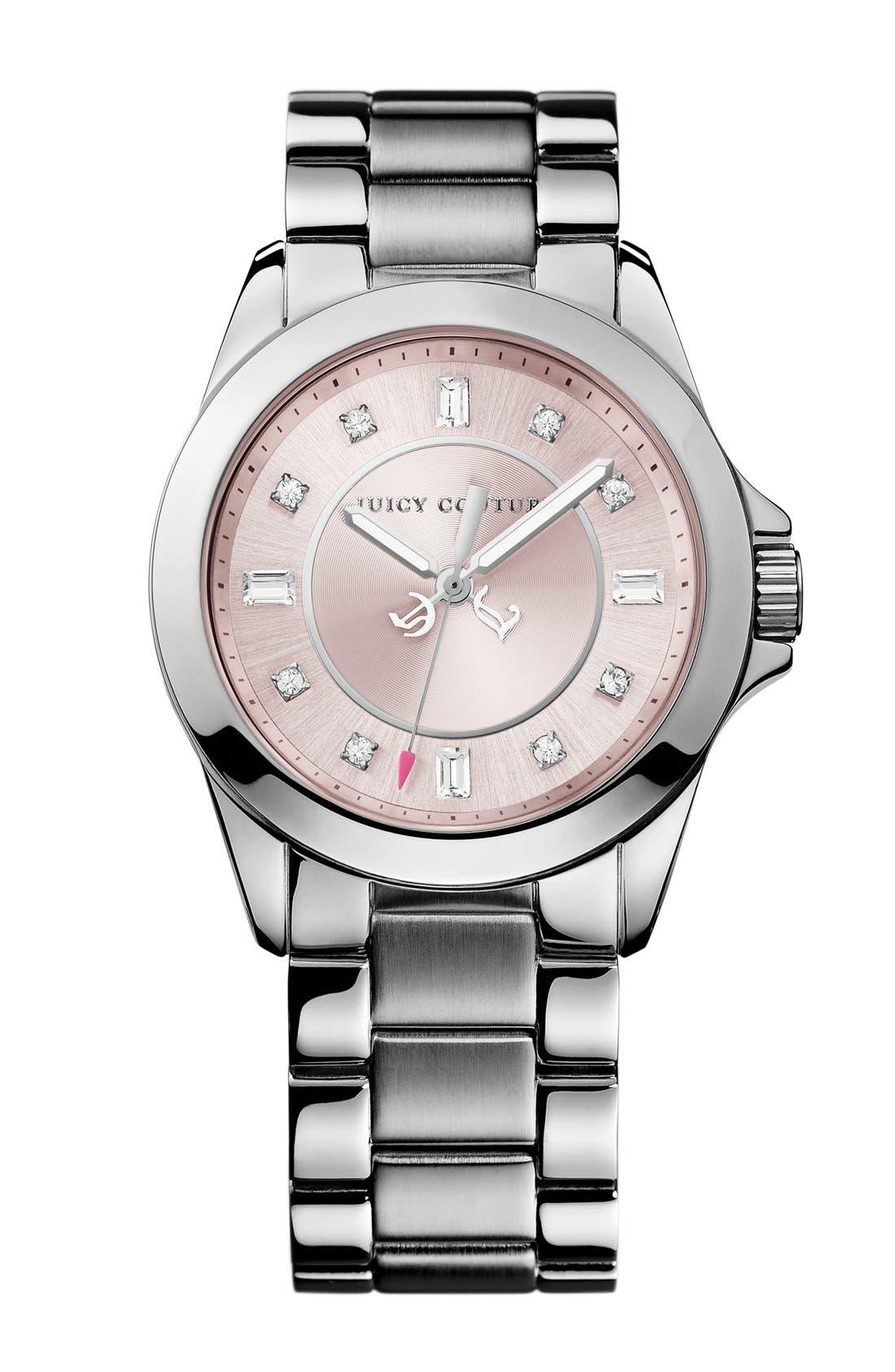 Alternate Image 1 Selected - Juicy Couture 'Stella' Crystal Marker Bracelet Watch, 36mm