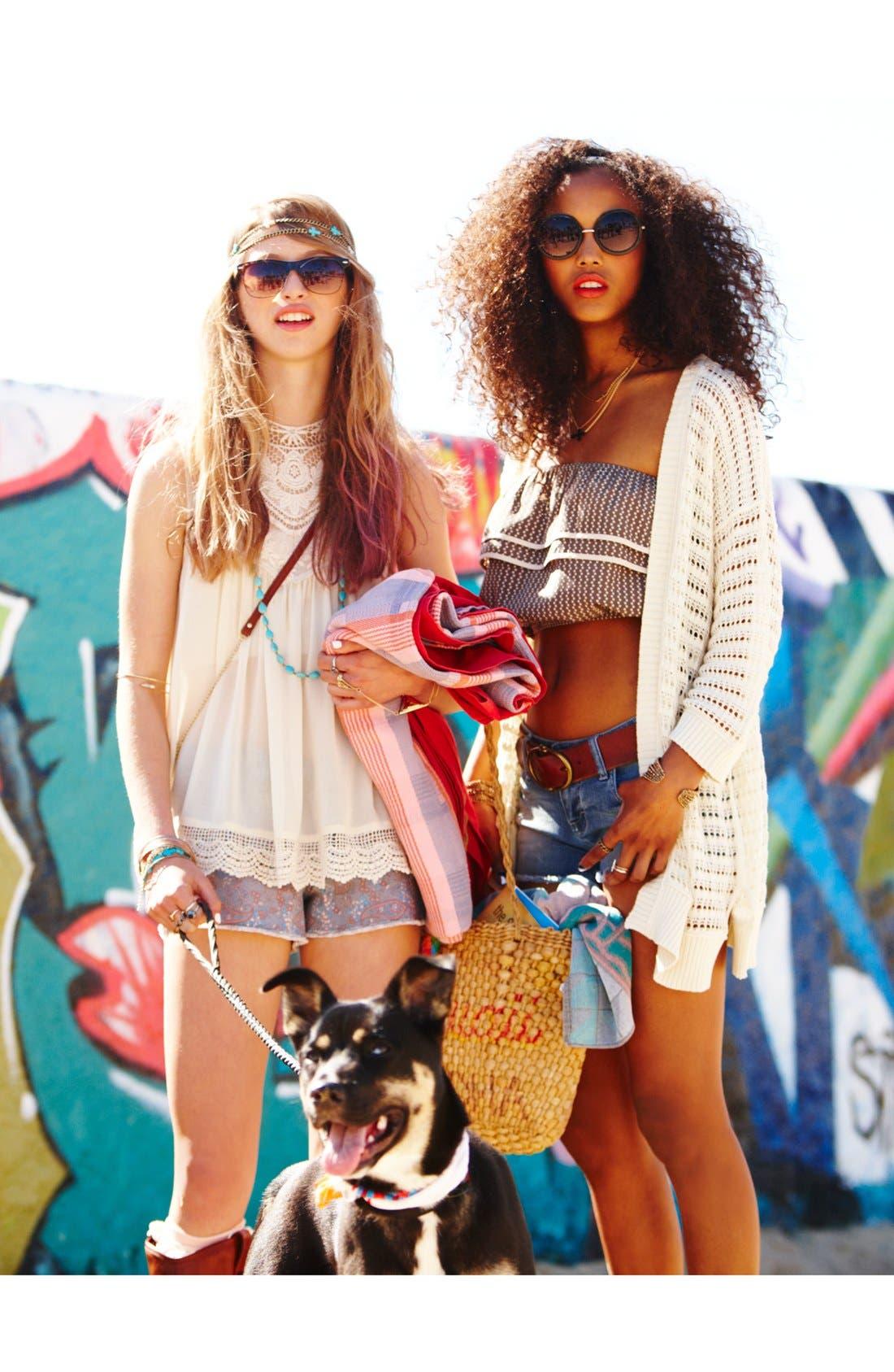Main Image - Elodie Tank & Jolt Cutoff Shorts