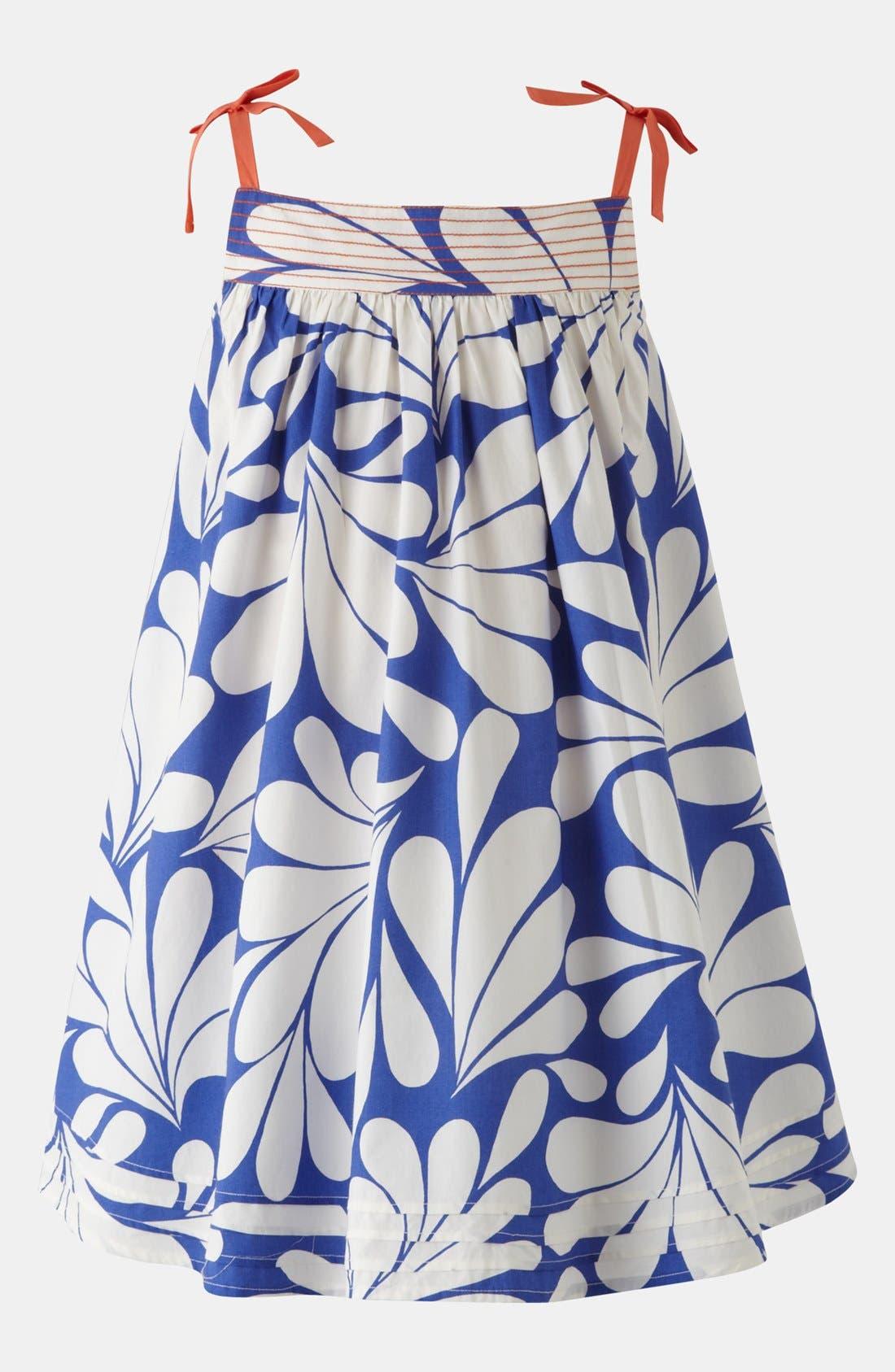 Alternate Image 1 Selected - Mini Boden Print Holiday Dress (Toddler)