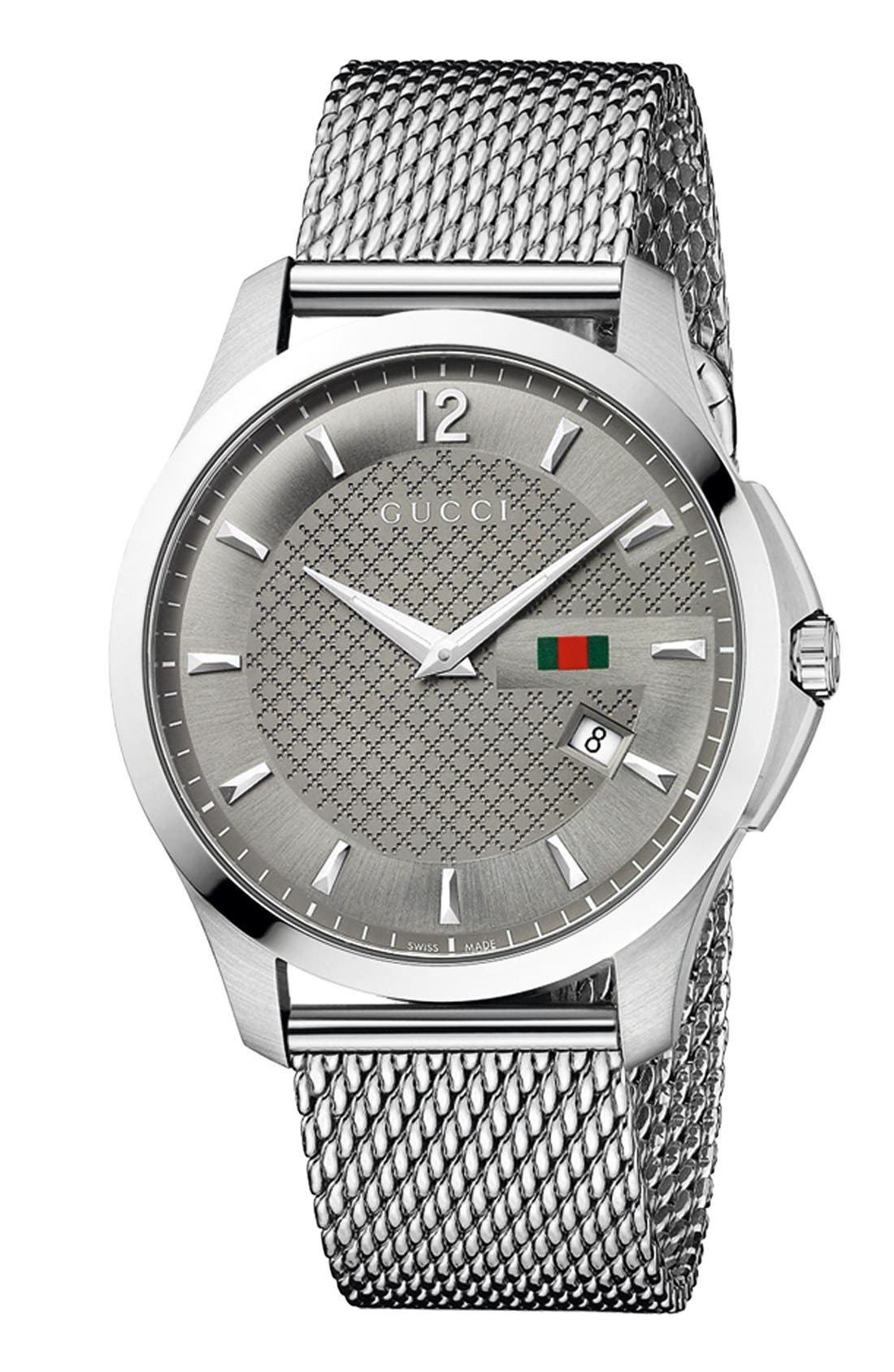 Main Image - Gucci 'G-Timeless' Mesh Bracelet Watch, 40mm