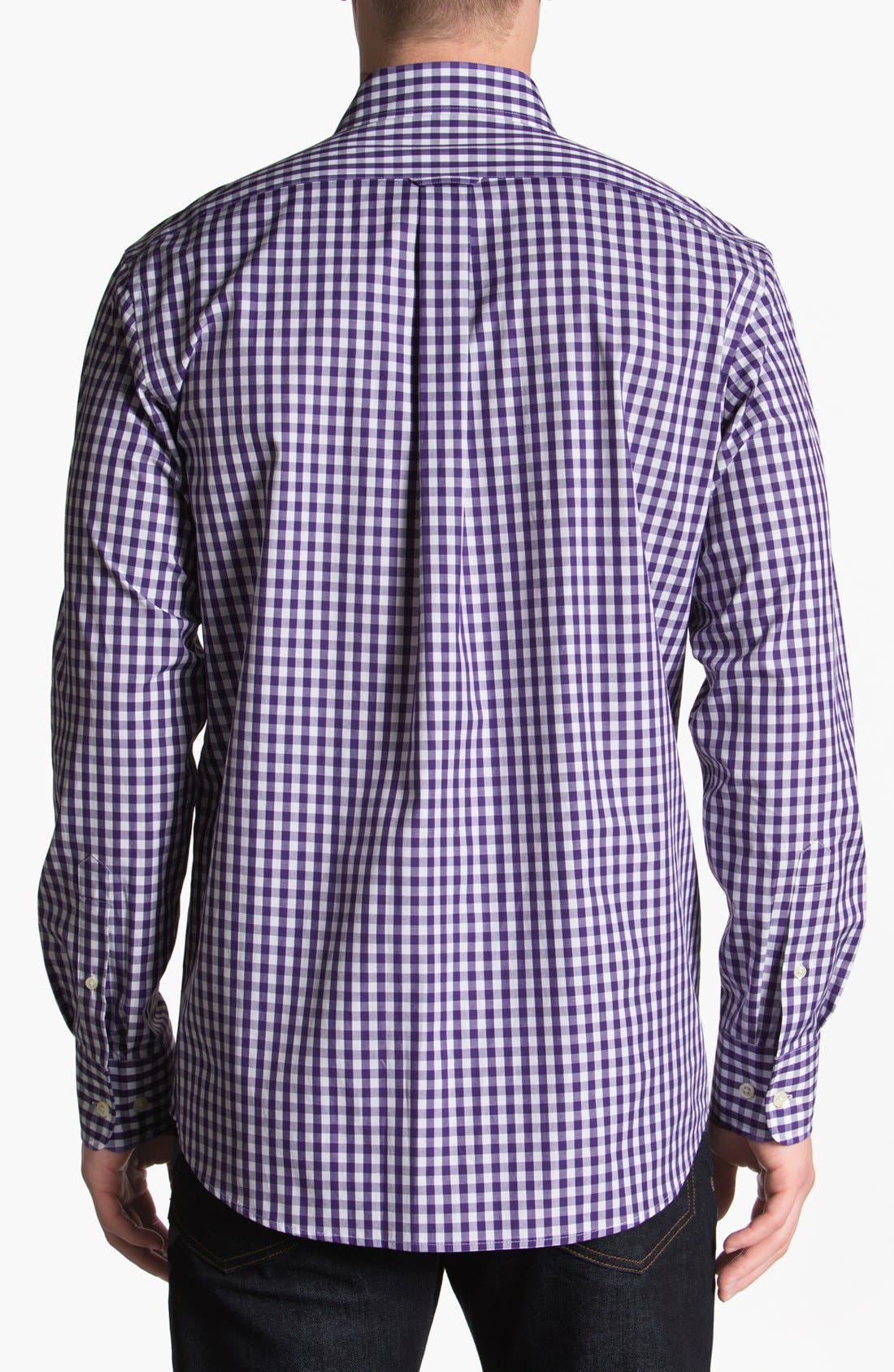 Alternate Image 2  - Façonnable Club Fit Gingham Sport Shirt