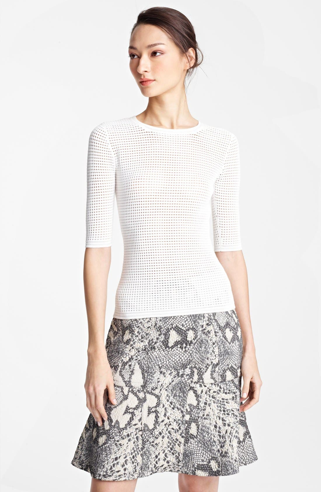 Alternate Image 1 Selected - Yigal Azrouël Open Waffle Knit Top