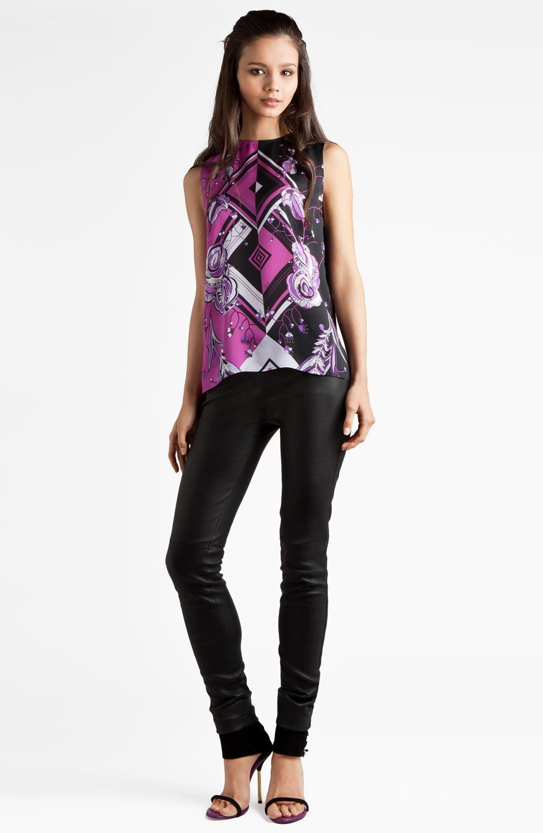 Alternate Image 1 Selected - Emilio Pucci 'Jazz' Print Charmeuse Blouse
