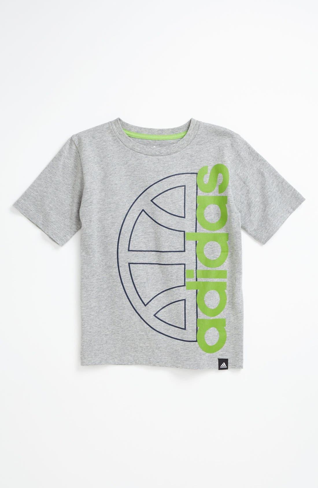 Alternate Image 1 Selected - adidas 'Ballin' T-Shirt (Little Boys)