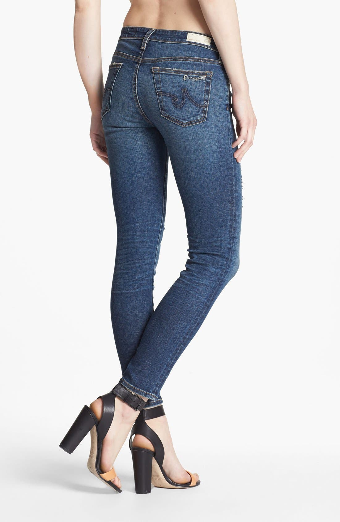 Alternate Image 6  - AG 'The Legging' Ankle Jeans (7 Year Break Me Down)