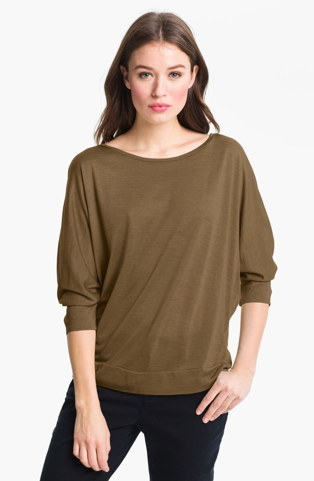 Alternate Image 1 Selected - Eileen Fisher Ballet Neck Dolman Sleeve Top (Online Only)
