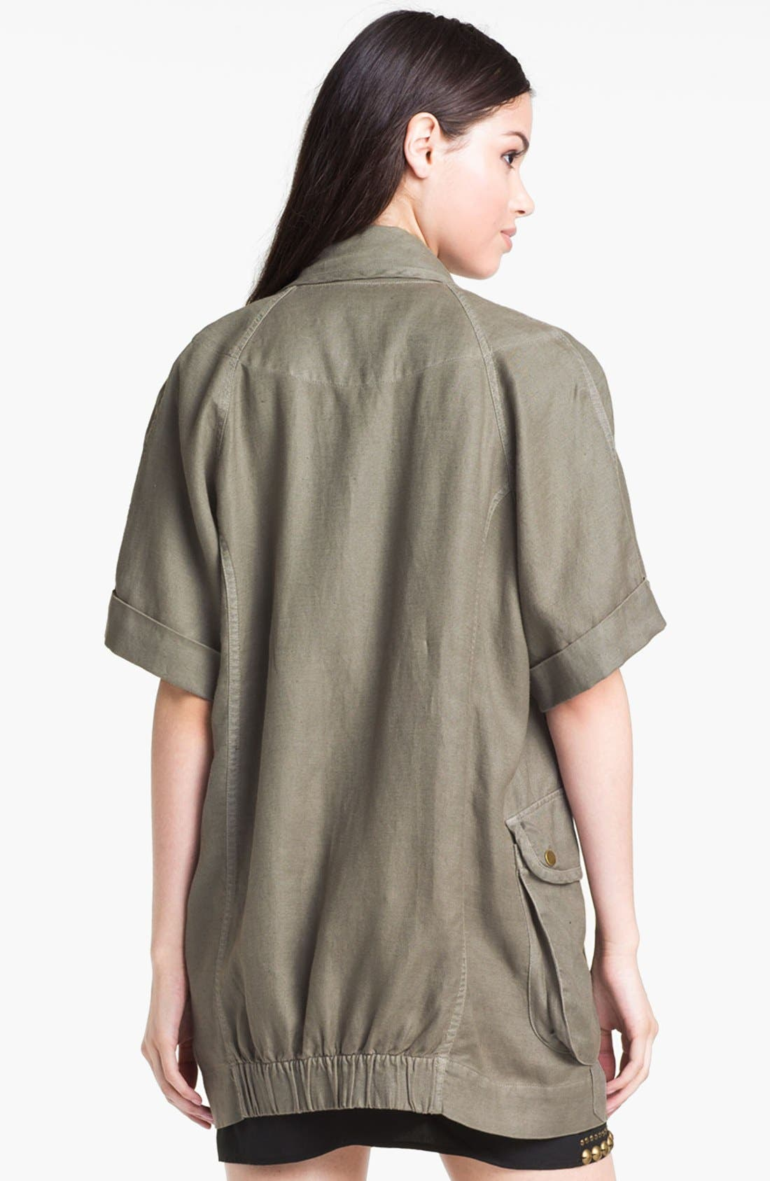 Alternate Image 2  - Willow & Clay Short Sleeve Utility Jacket