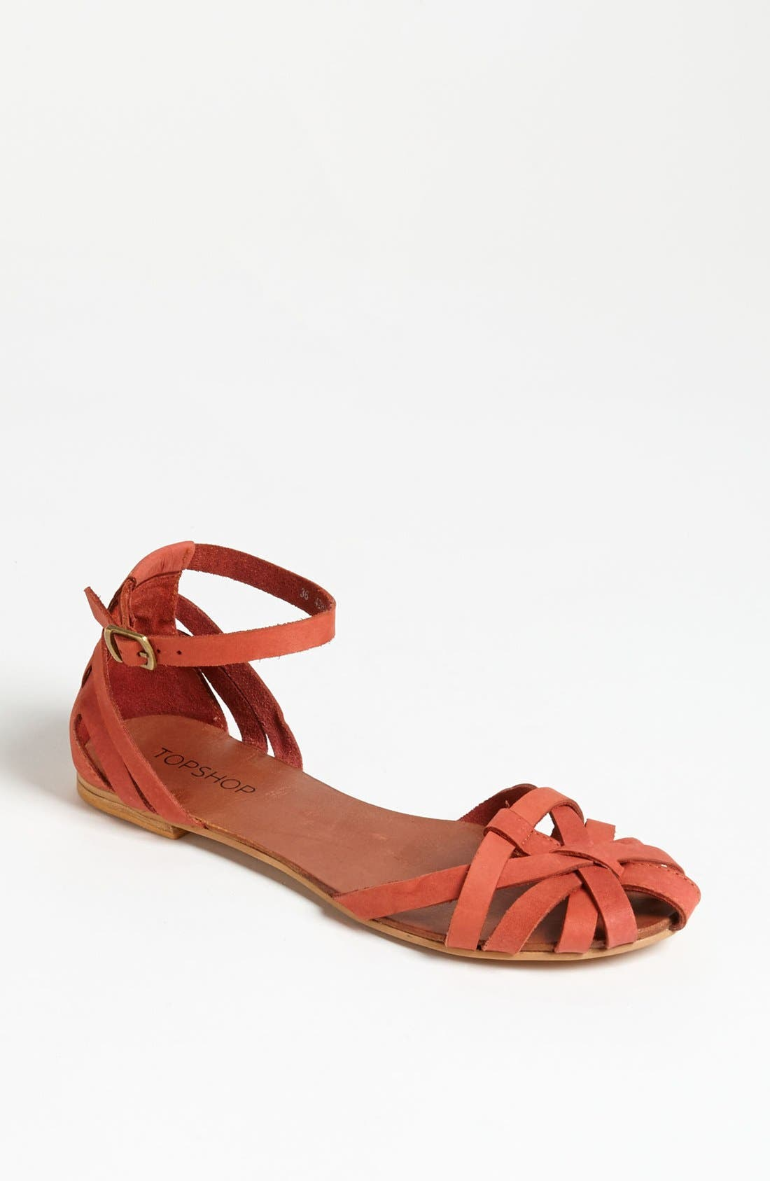 Alternate Image 1 Selected - Topshop 'Happy' Cage Toe Sandal