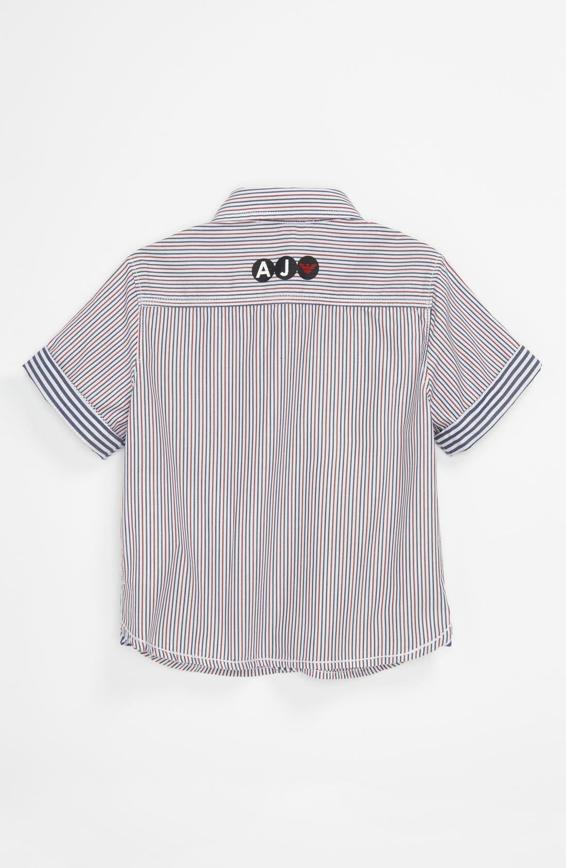 Alternate Image 2  - Armani Junior Stripe Shirt (Baby)