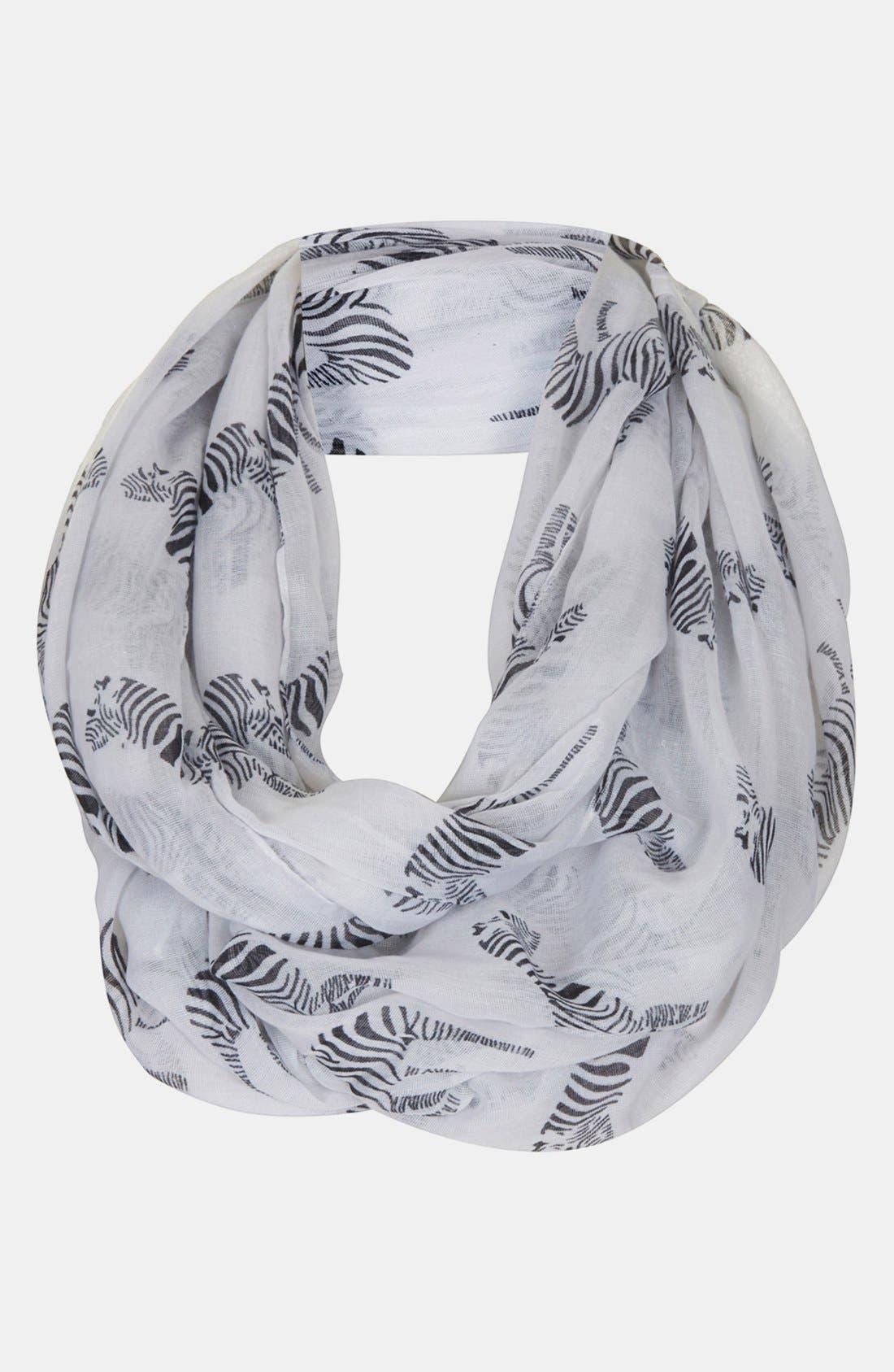 Alternate Image 1 Selected - Topshop Zebra Print Infinity Scarf