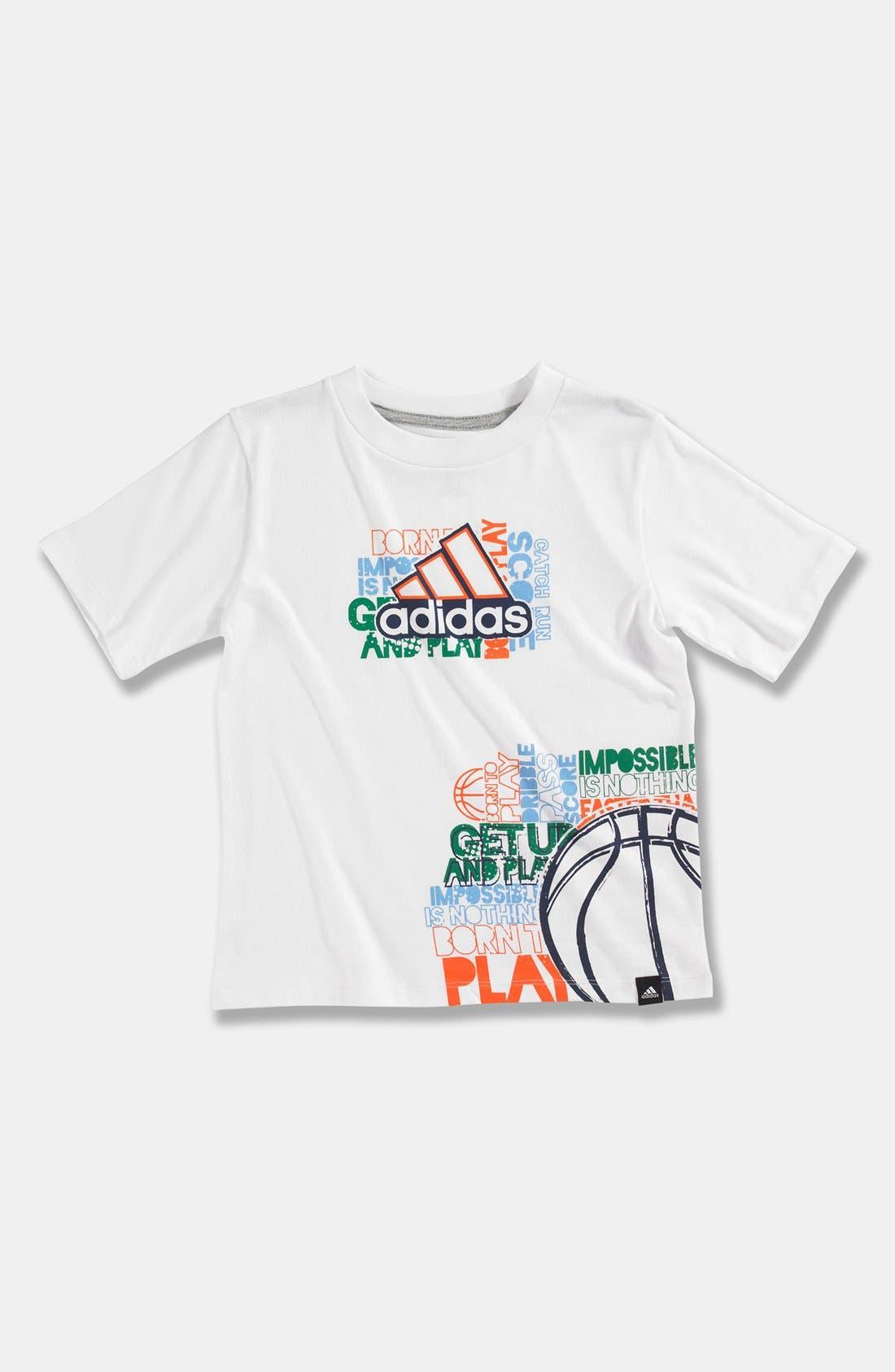 Alternate Image 1 Selected - adidas 'Crossword Wrap' T-Shirt (Little Boys)