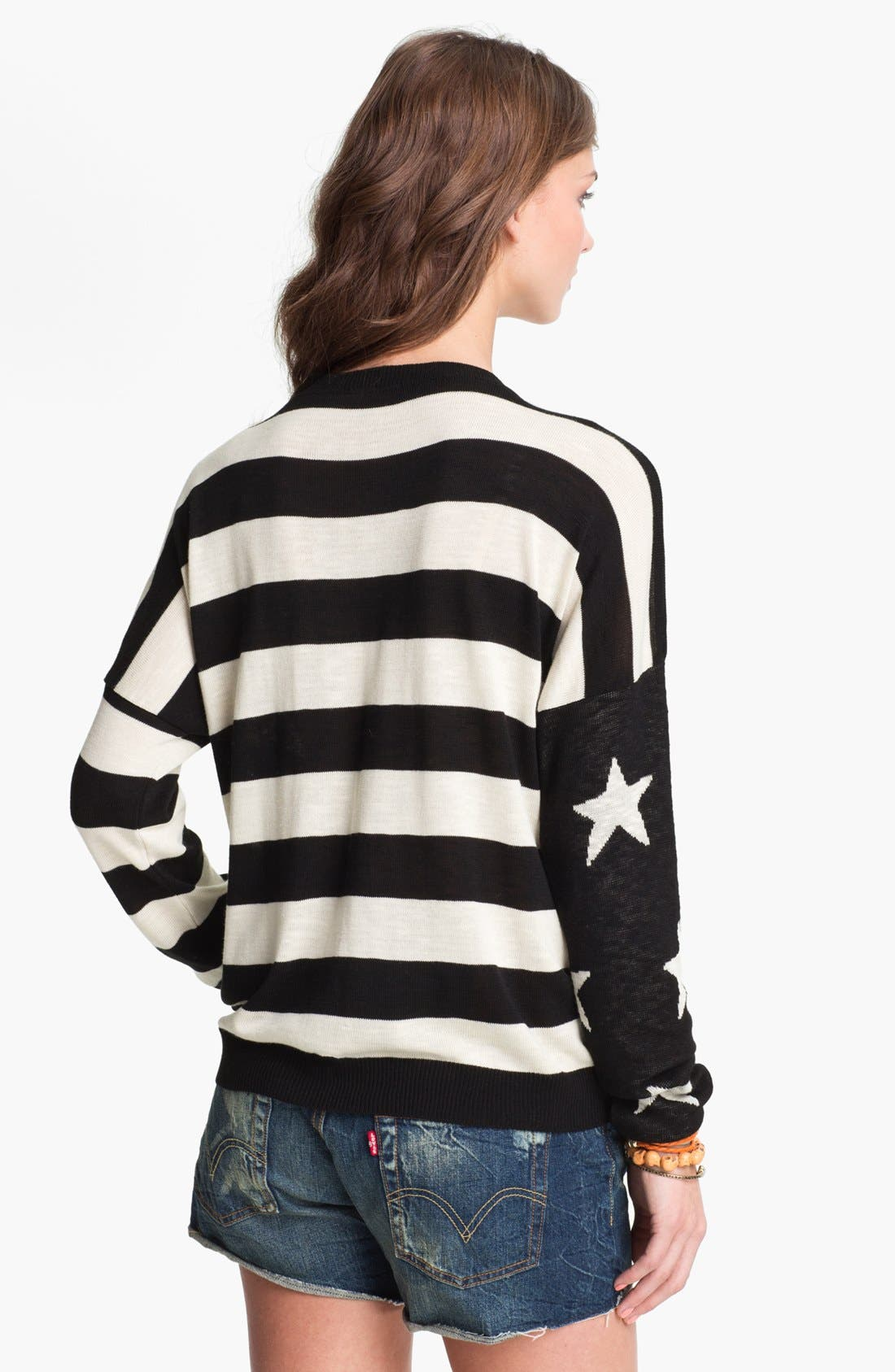 Alternate Image 1 Selected - Truehitt Stars & Stripes Sweater (Juniors)