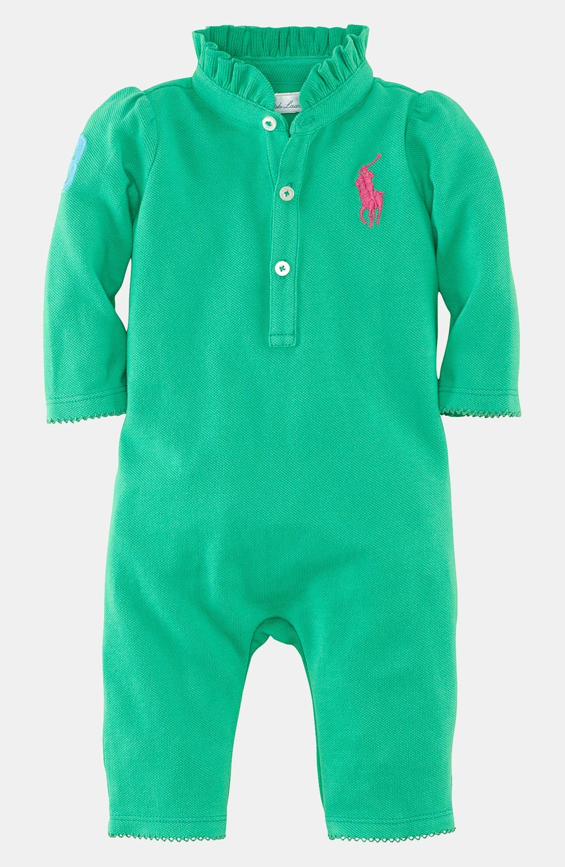 Alternate Image 1 Selected - Ralph Lauren Coverall (Baby)