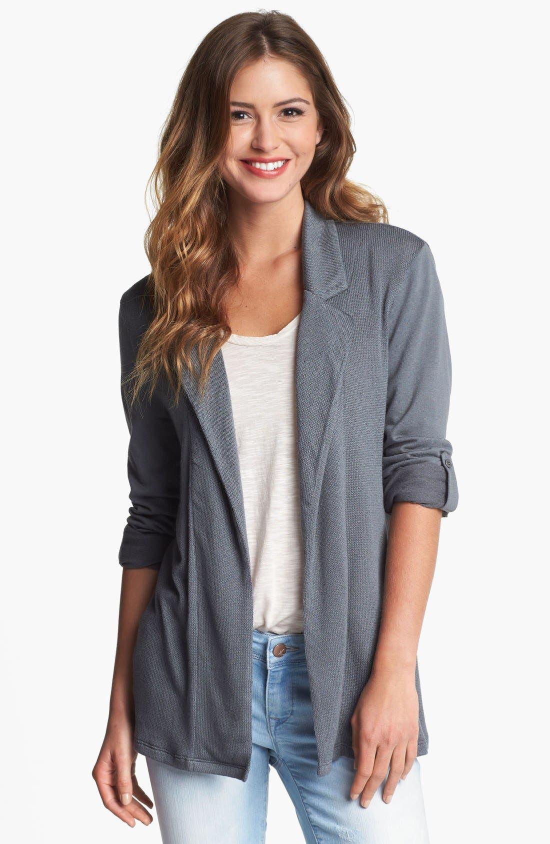 Main Image - Pleione Roll Sleeve Cardigan