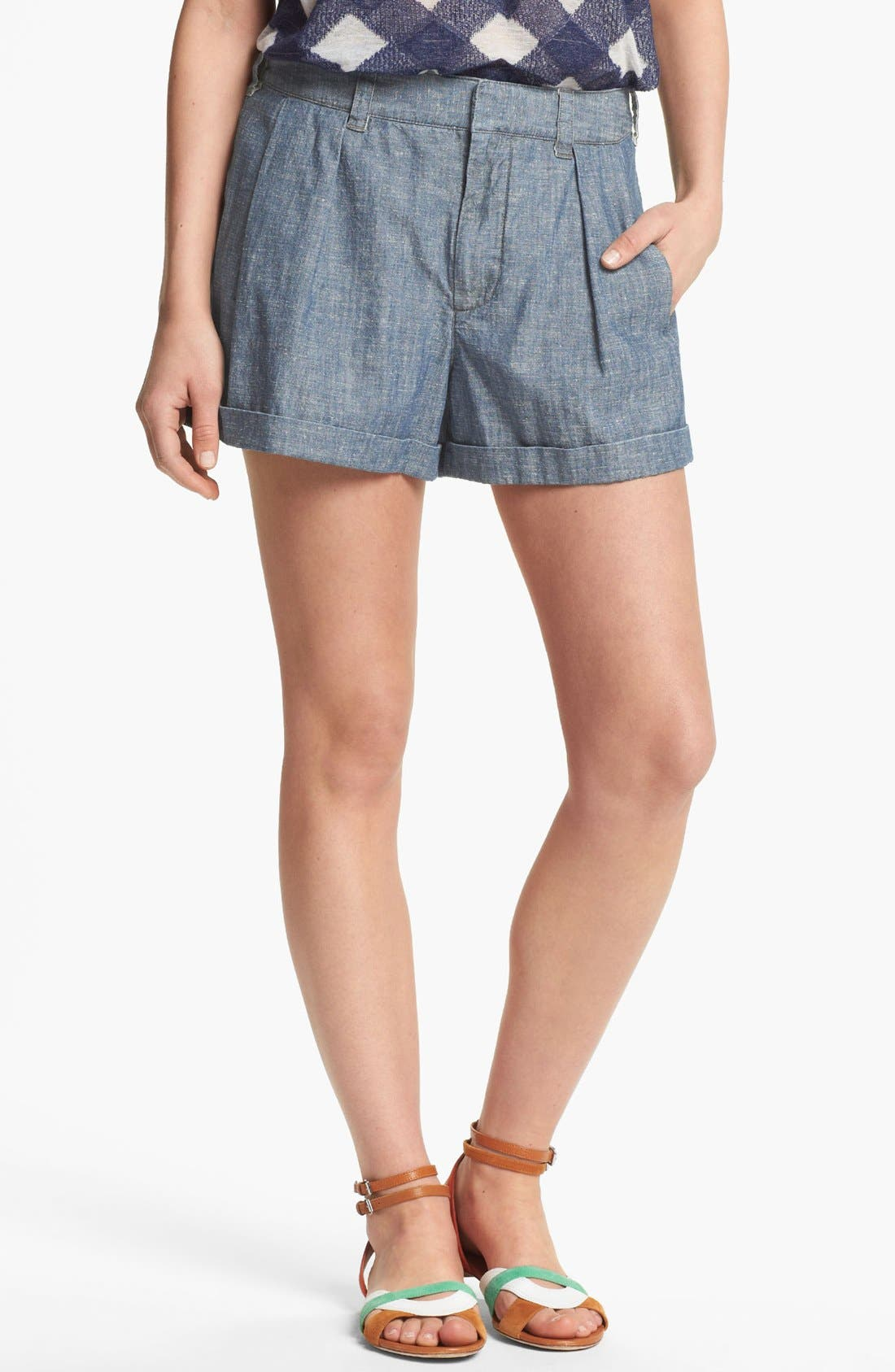 Alternate Image 1 Selected - MARC BY MARC JACOBS 'Corey' Chambray Shorts