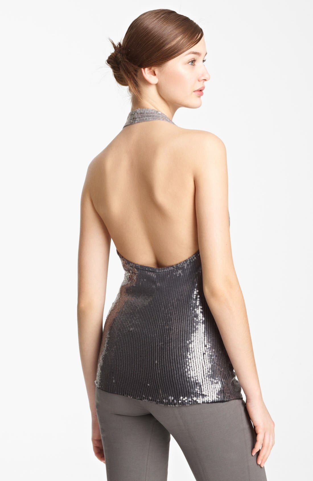 Alternate Image 2  - Donna Karan Collection Ombré Sequin Cashmere Top