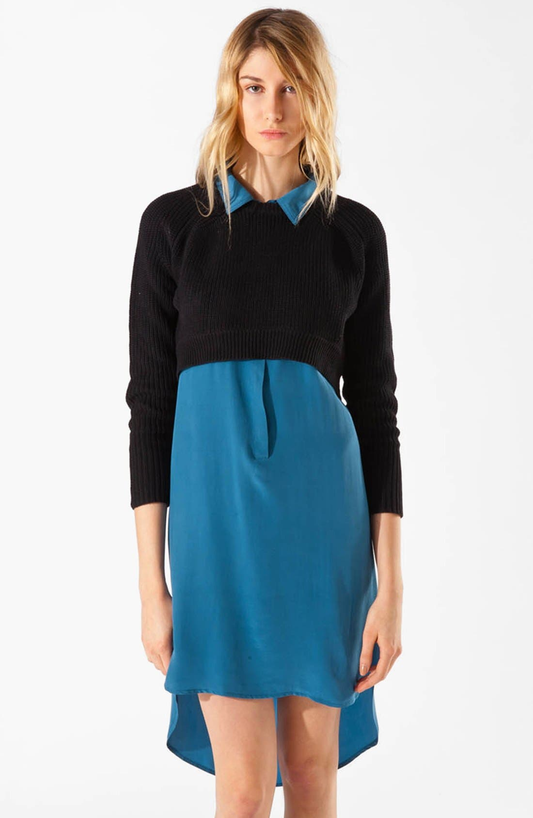 Main Image - maje 'Apples' Crop Sweater