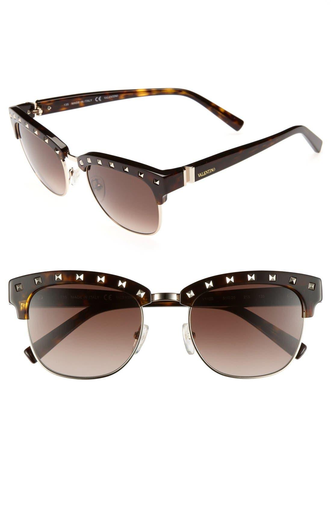 Main Image - Valentino 51mm 'Rockstud' Sunglasses
