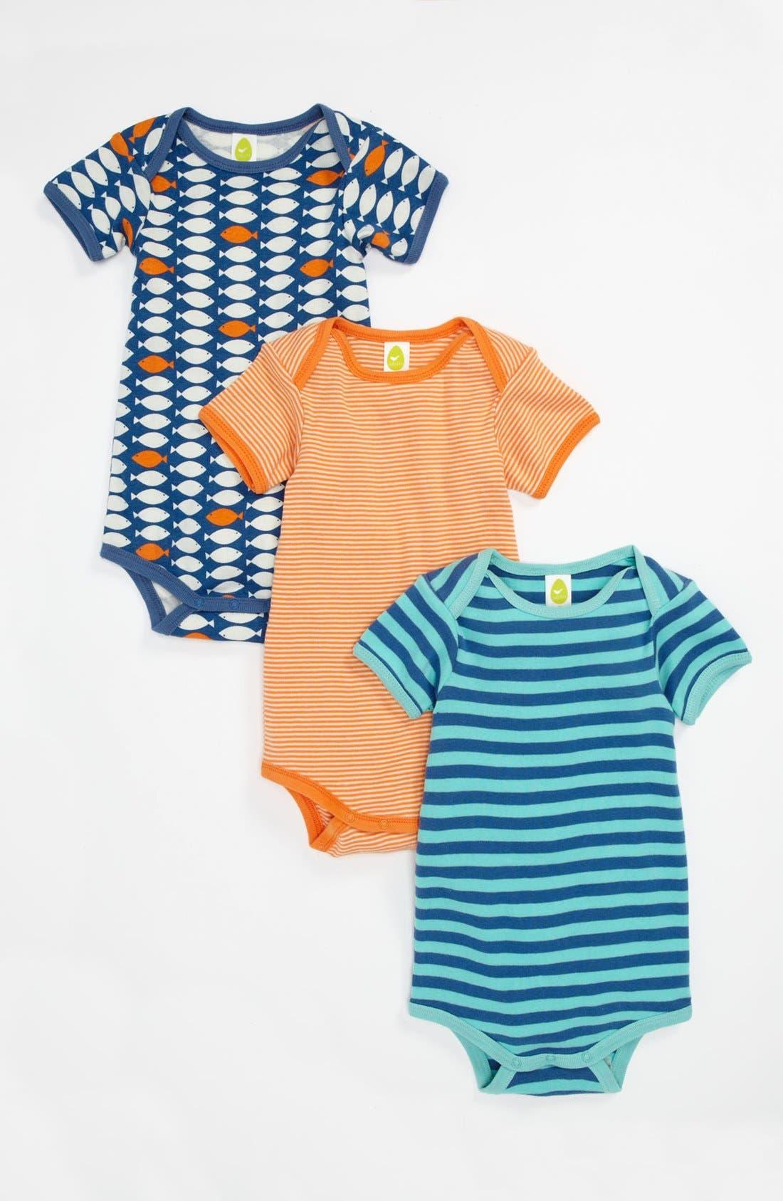 Alternate Image 1 Selected - Stem Baby Organic Cotton Bodysuit (3-Pack) (Infant)