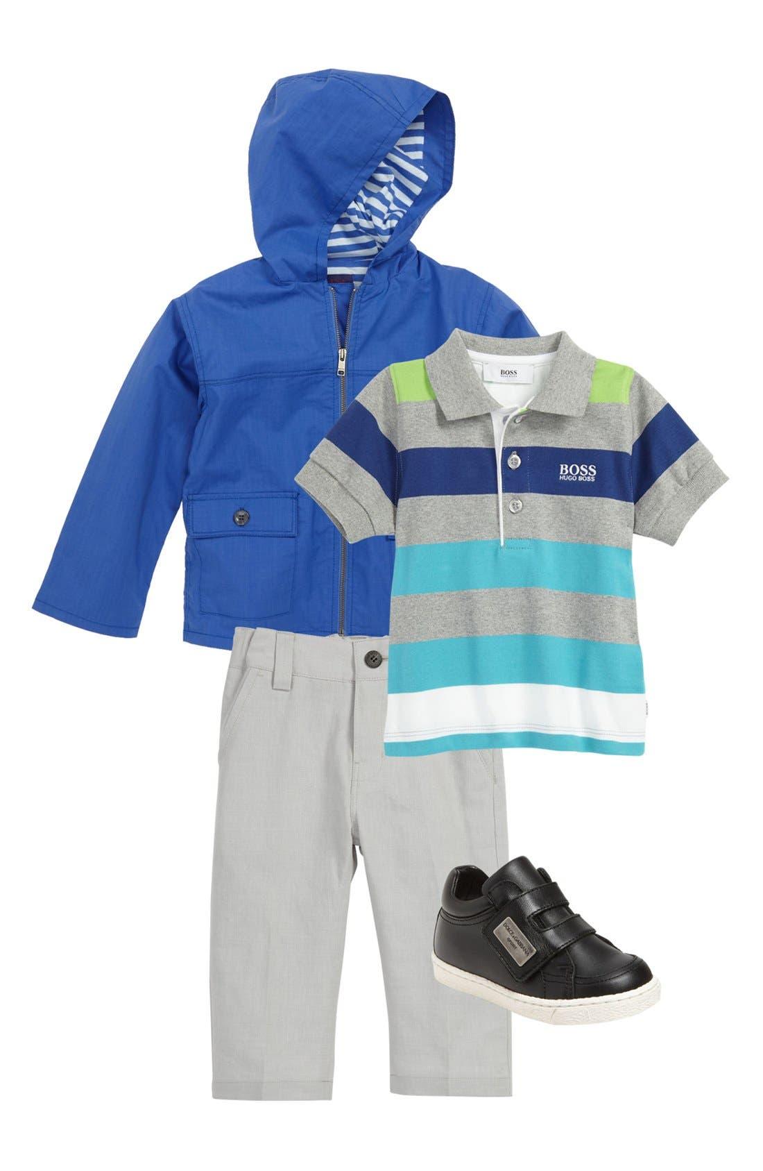 Alternate Image 1 Selected - BOSS Kidswear Polo & Pants, Paul Smith Junior Sneaker & Dolce&Gabbana Sneaker (Infant)