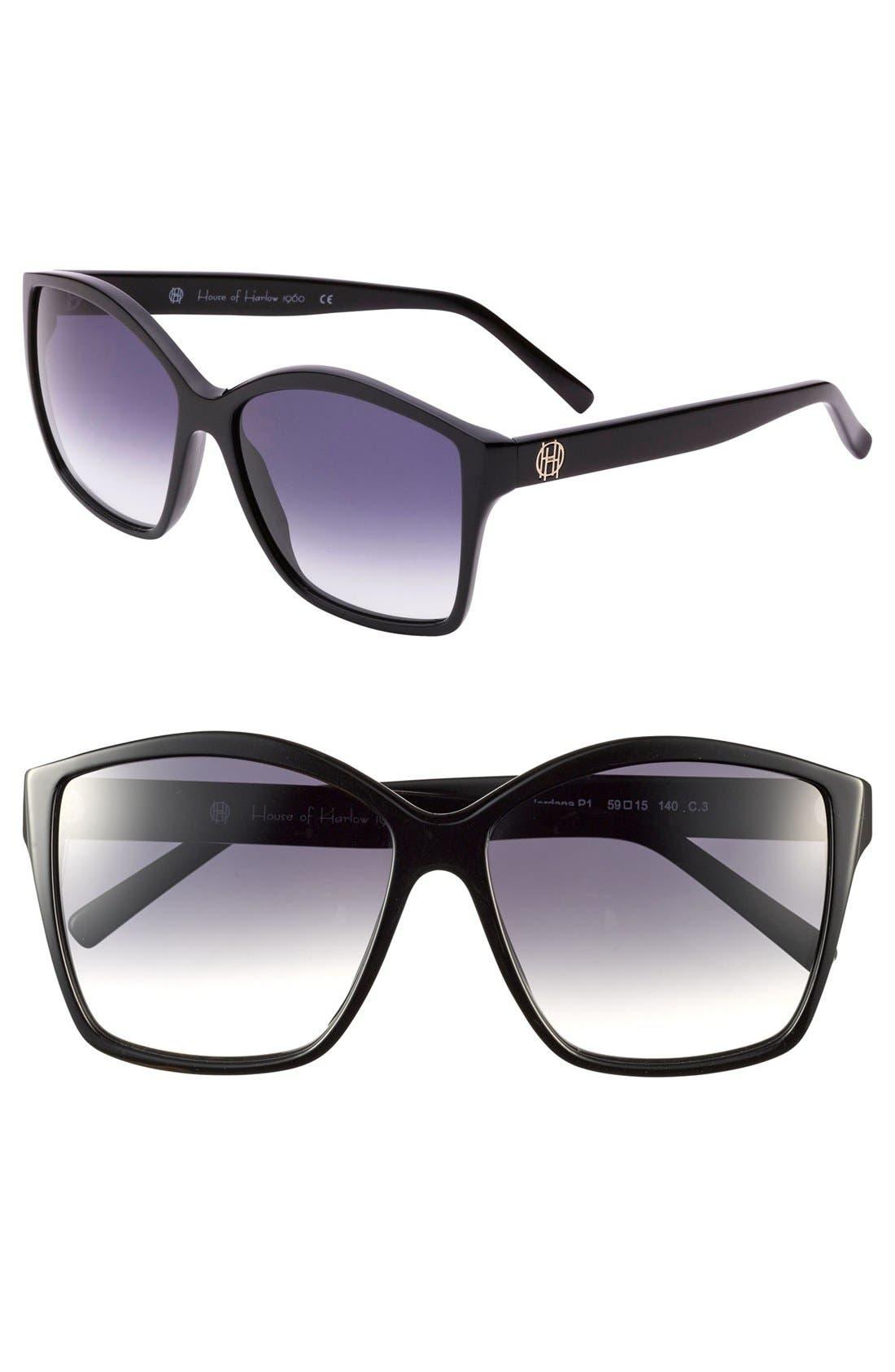 Alternate Image 1 Selected - House of Harlow 1960 'Jordana' 59mm Sunglasses