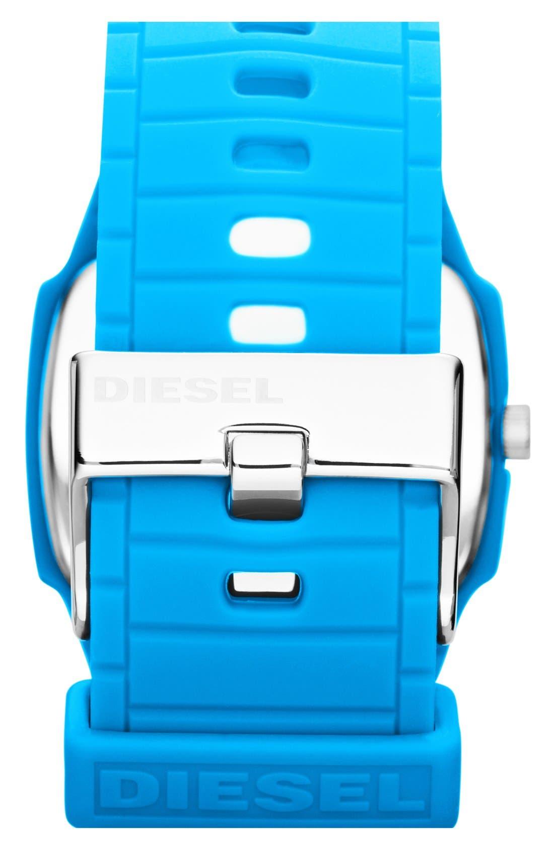 Alternate Image 3  - DIESEL® 'Trojan' Silicone Strap Watch, 48mm x 43mm