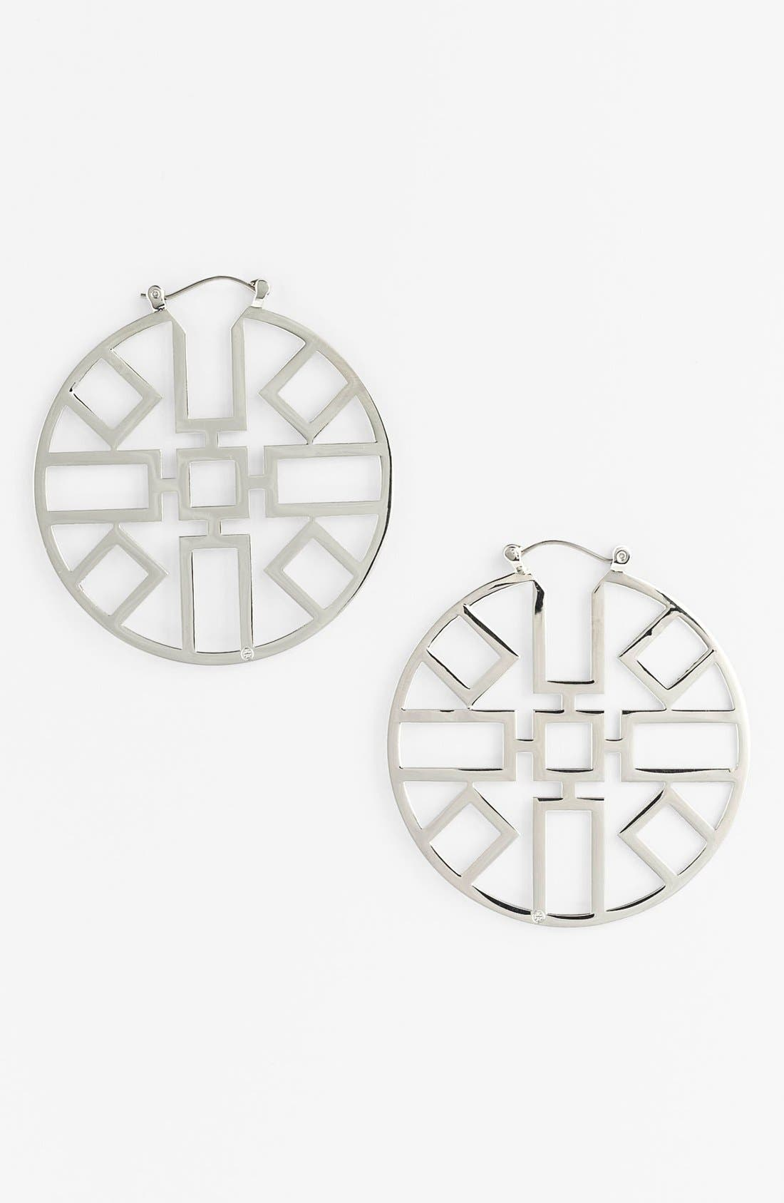 Alternate Image 1 Selected - Tory Burch 'Jordan' Hoop Earrings