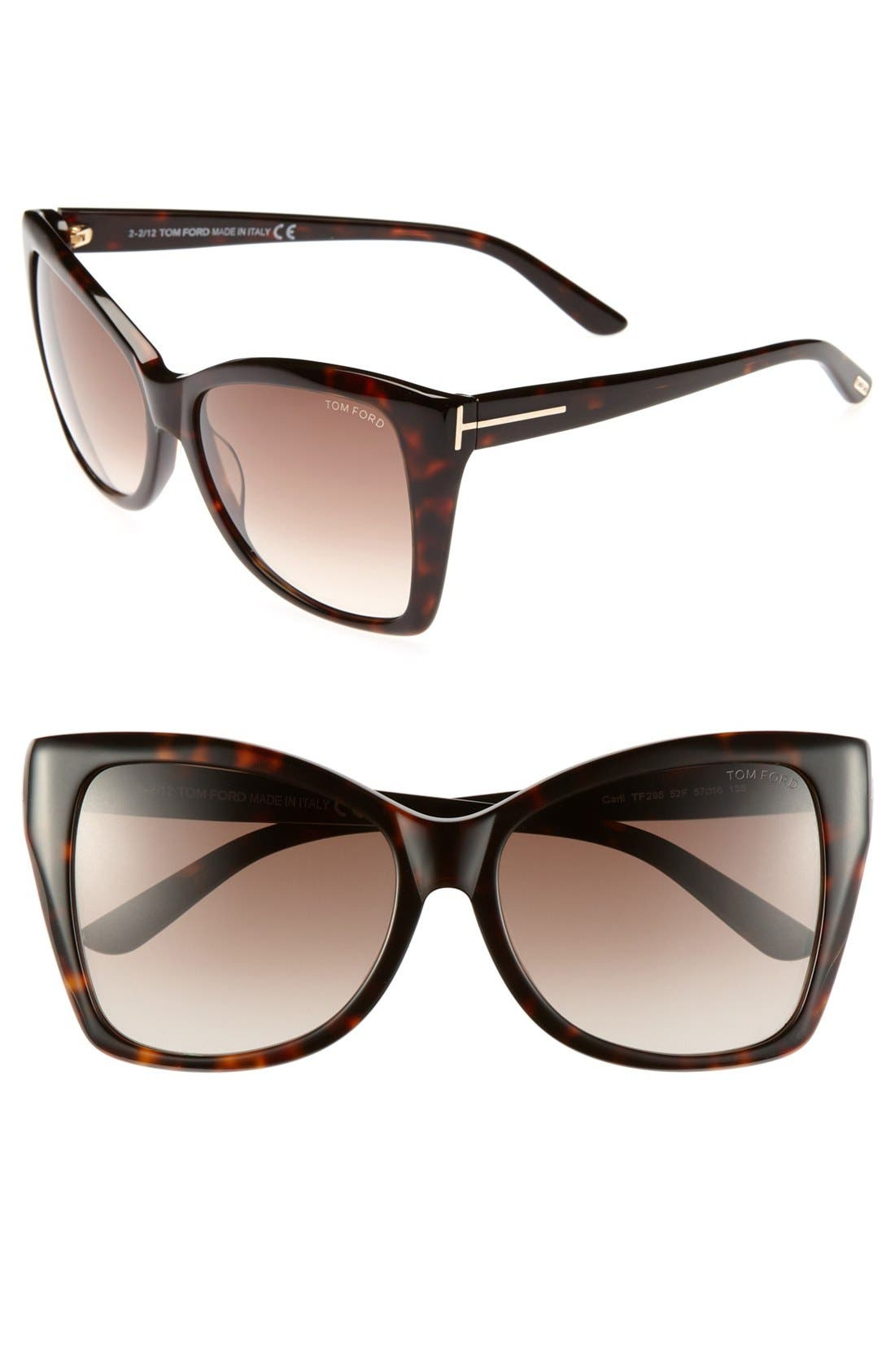 Alternate Image 1 Selected - Tom Ford 'Carli' 57mm Sunglasses