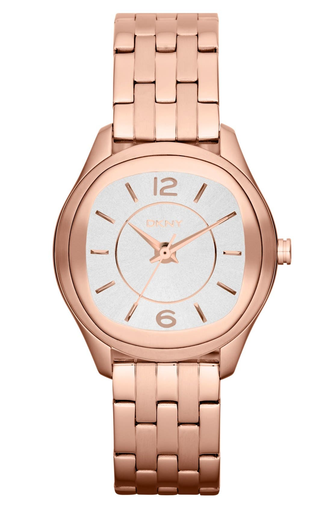 Main Image - DKNY Round Bracelet Watch, 34mm