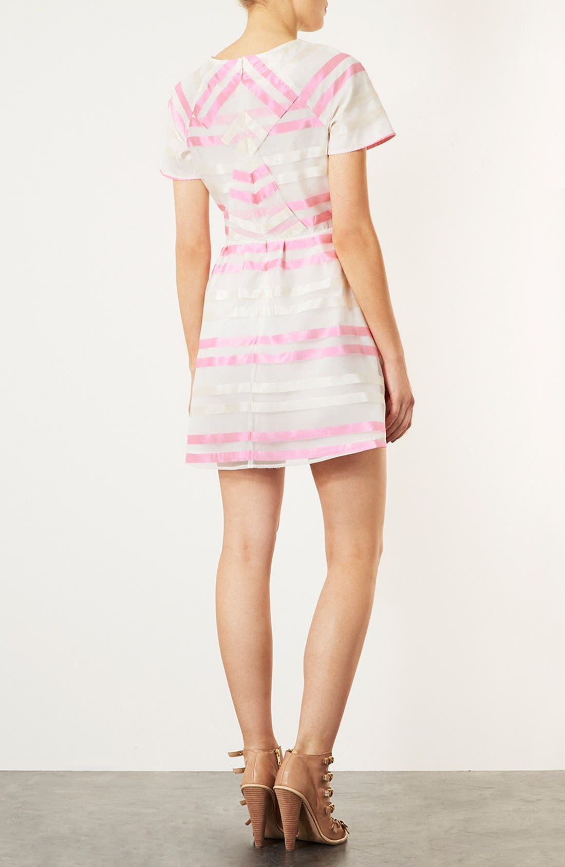 Alternate Image 3  - Topshop 'Candy Stripe Origami' Skater Dress