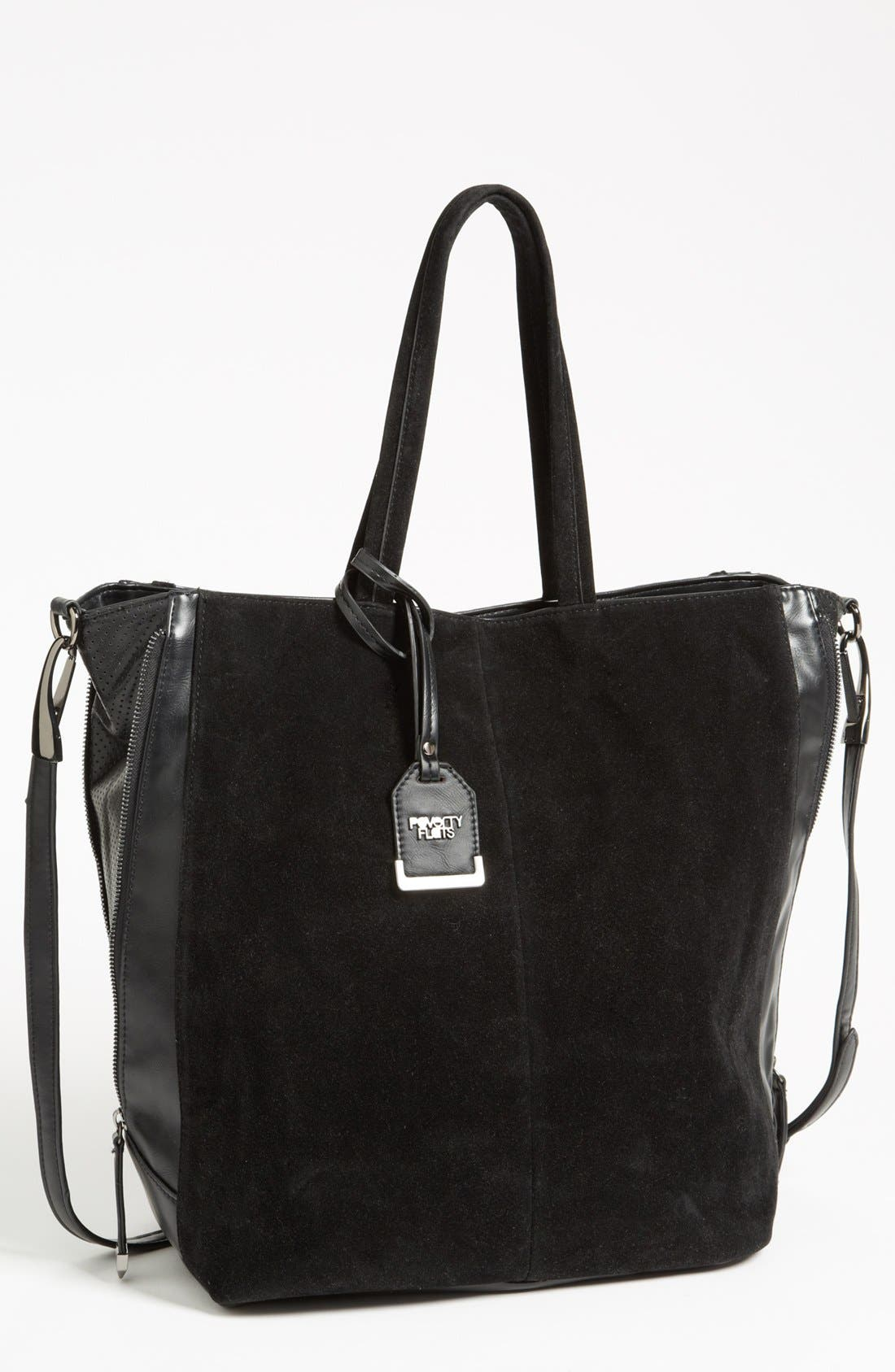 Main Image - POVERTY FLATS by rian Faux Suede Tote, Extra Large