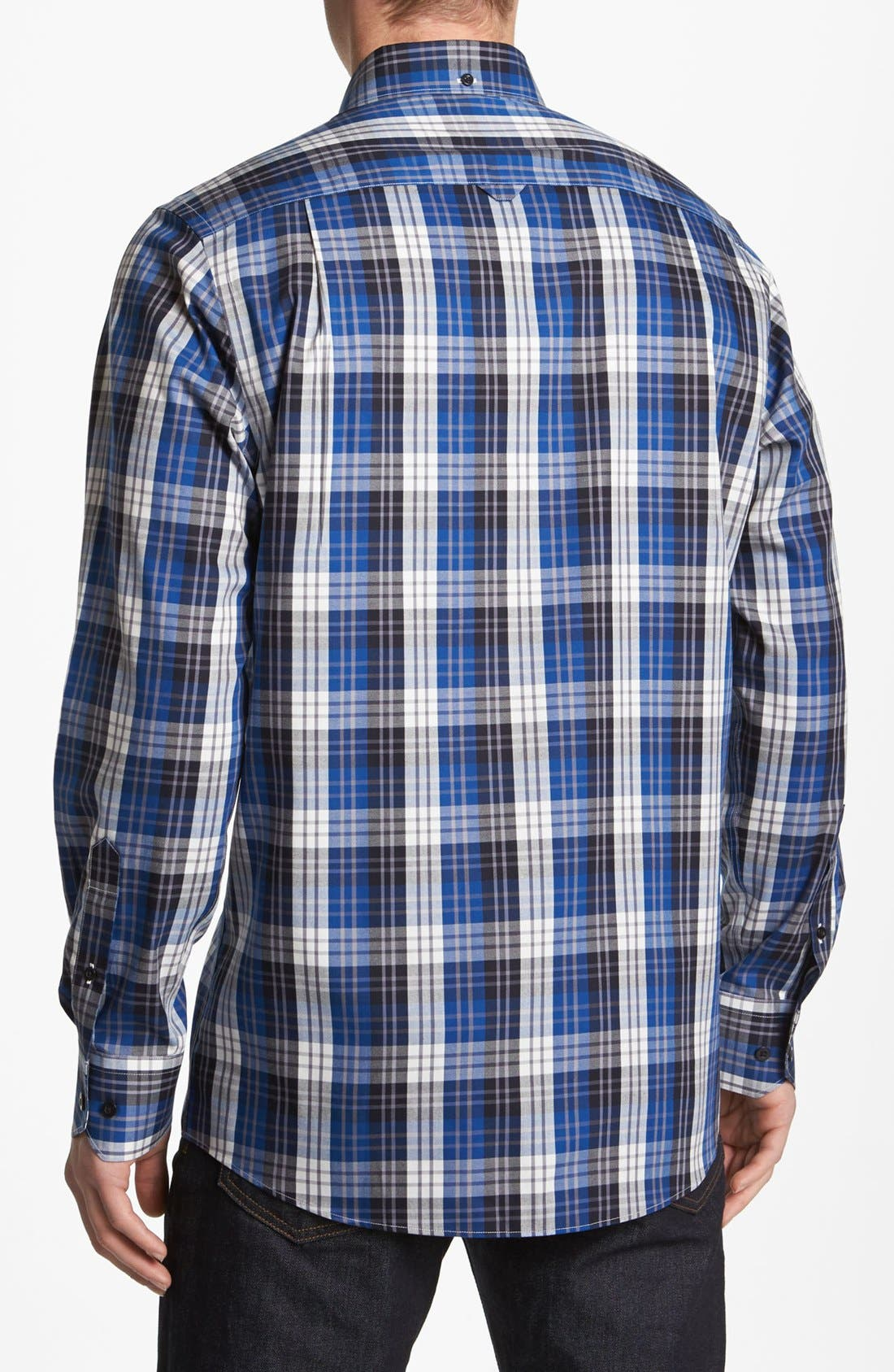 Alternate Image 2  - Nordstrom Smartcare™ Plaid Oxford Sport Shirt