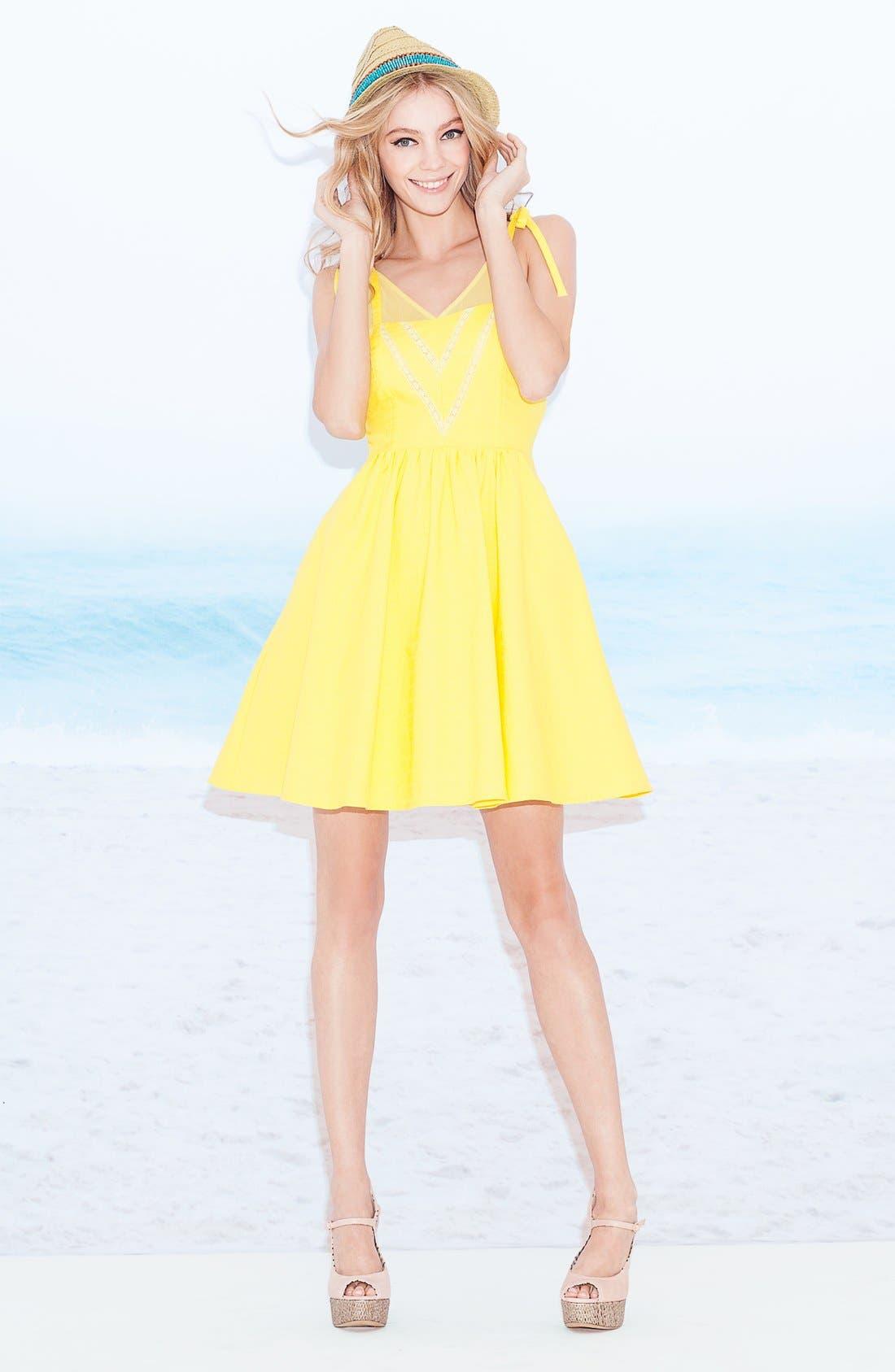 Alternate Image 4  - Jessica Simpson V-Neck Fit & Flare Dress