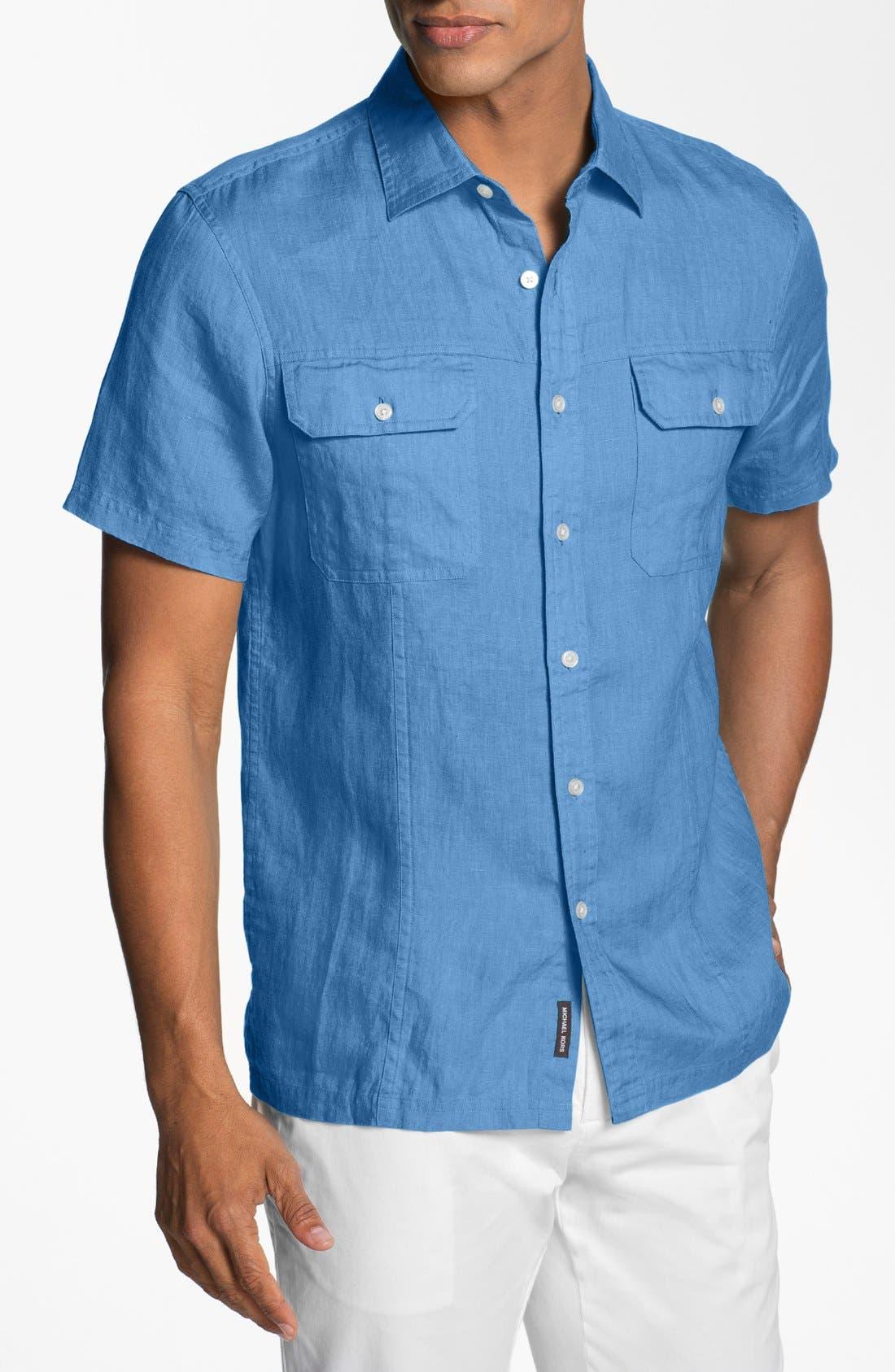 Main Image - Michael Kors Tailored Fit Linen Sport Shirt