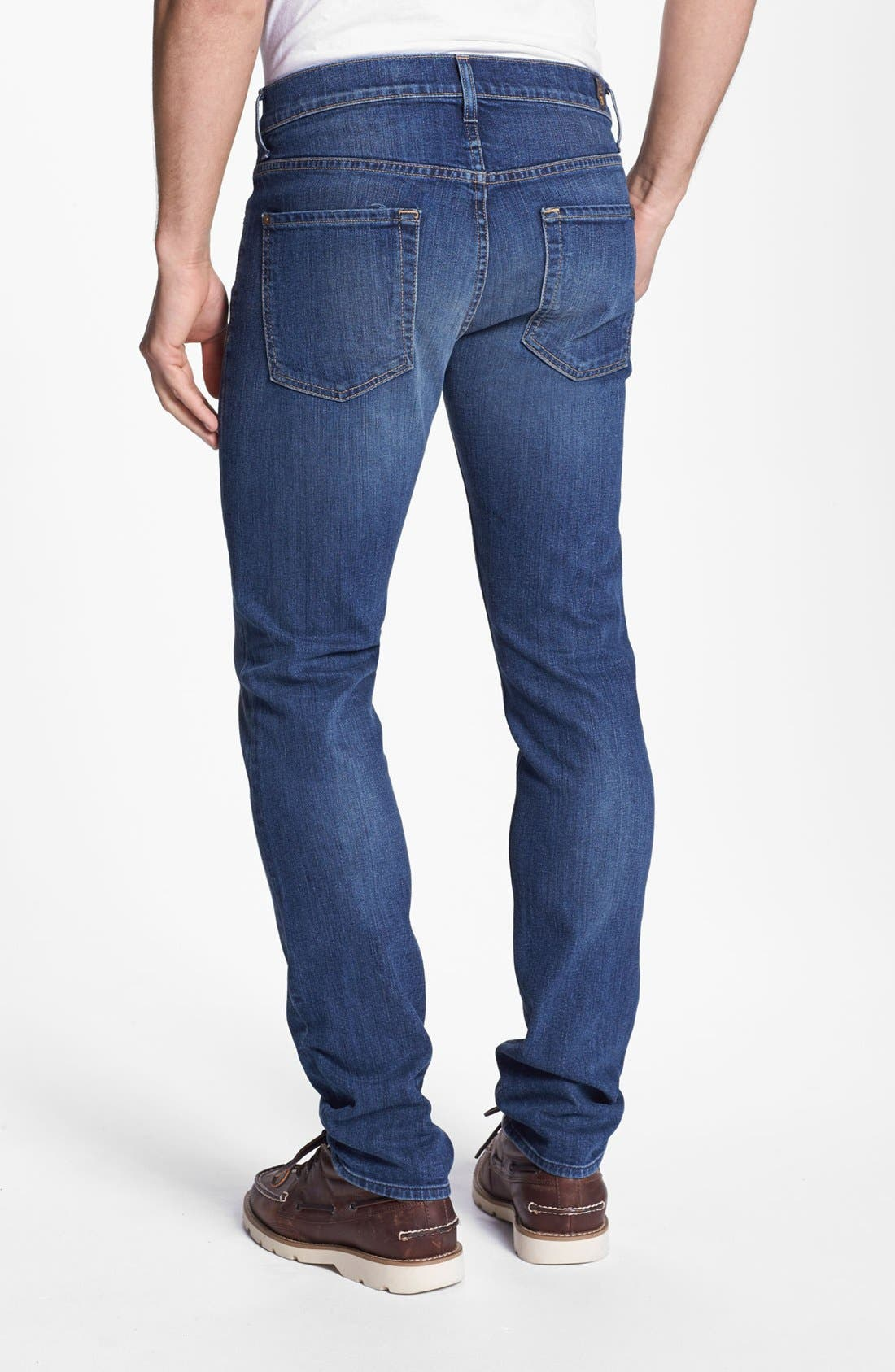 Alternate Image 1 Selected - 7 For All Mankind® 'Paxtyn' Skinny Fit Jeans (Tinted Authentic)