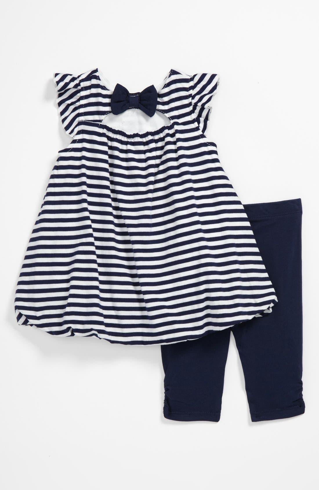 Alternate Image 2  - Little Me 'Nautical' Tunic & Leggings (Baby)