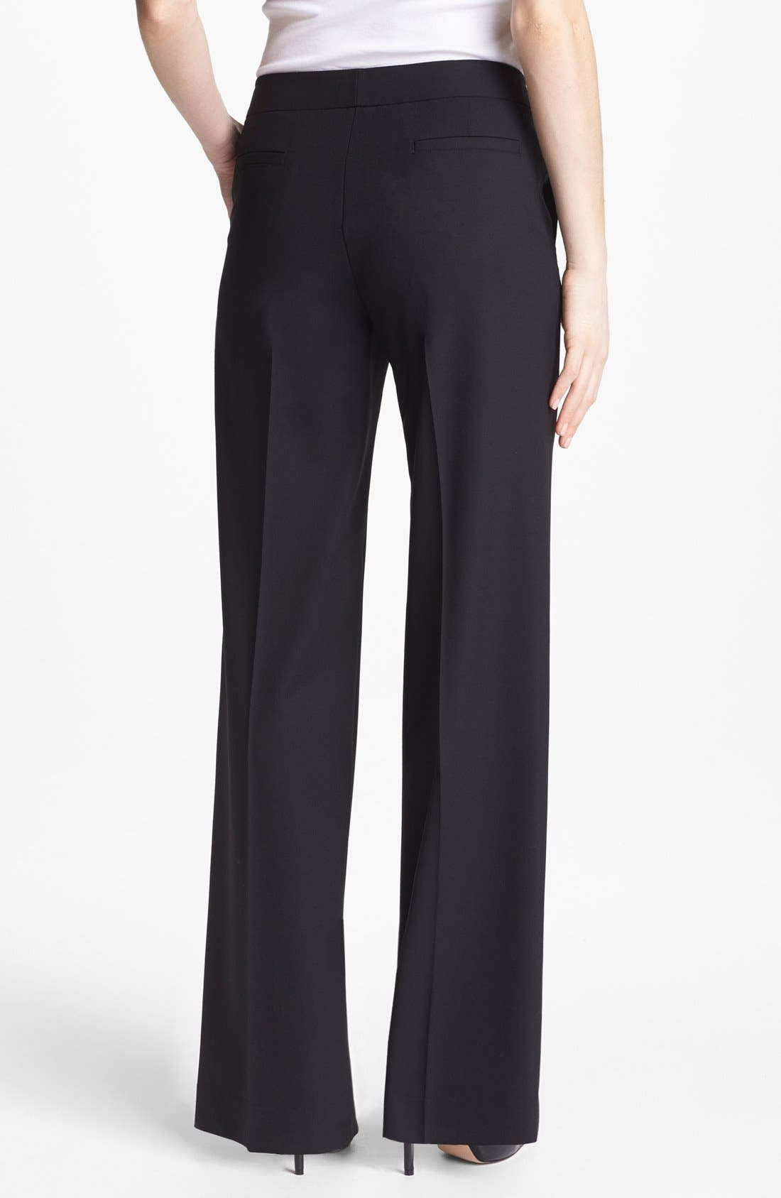 Alternate Image 2  - Lafayette 148 New York 'Delancey' Stretch Wool Pants