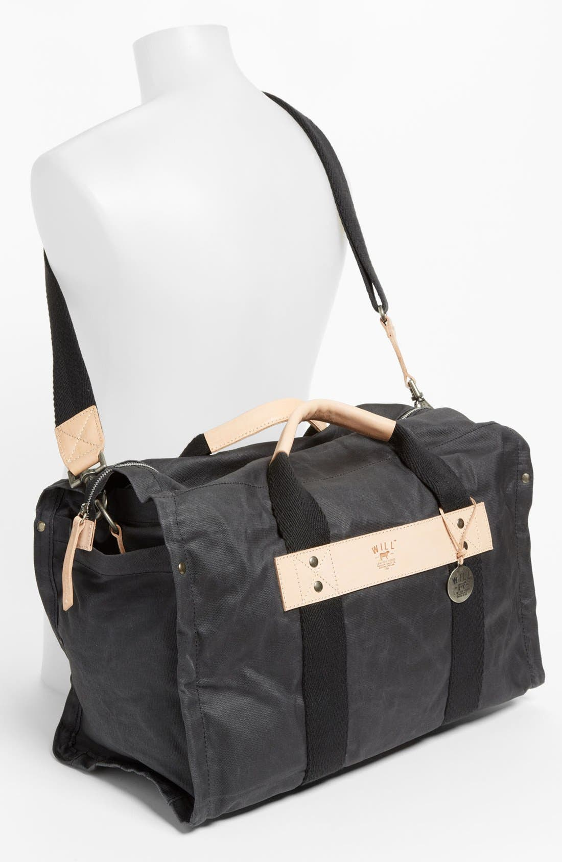 Alternate Image 4  - Will Leather Goods Canvas Duffel Bag