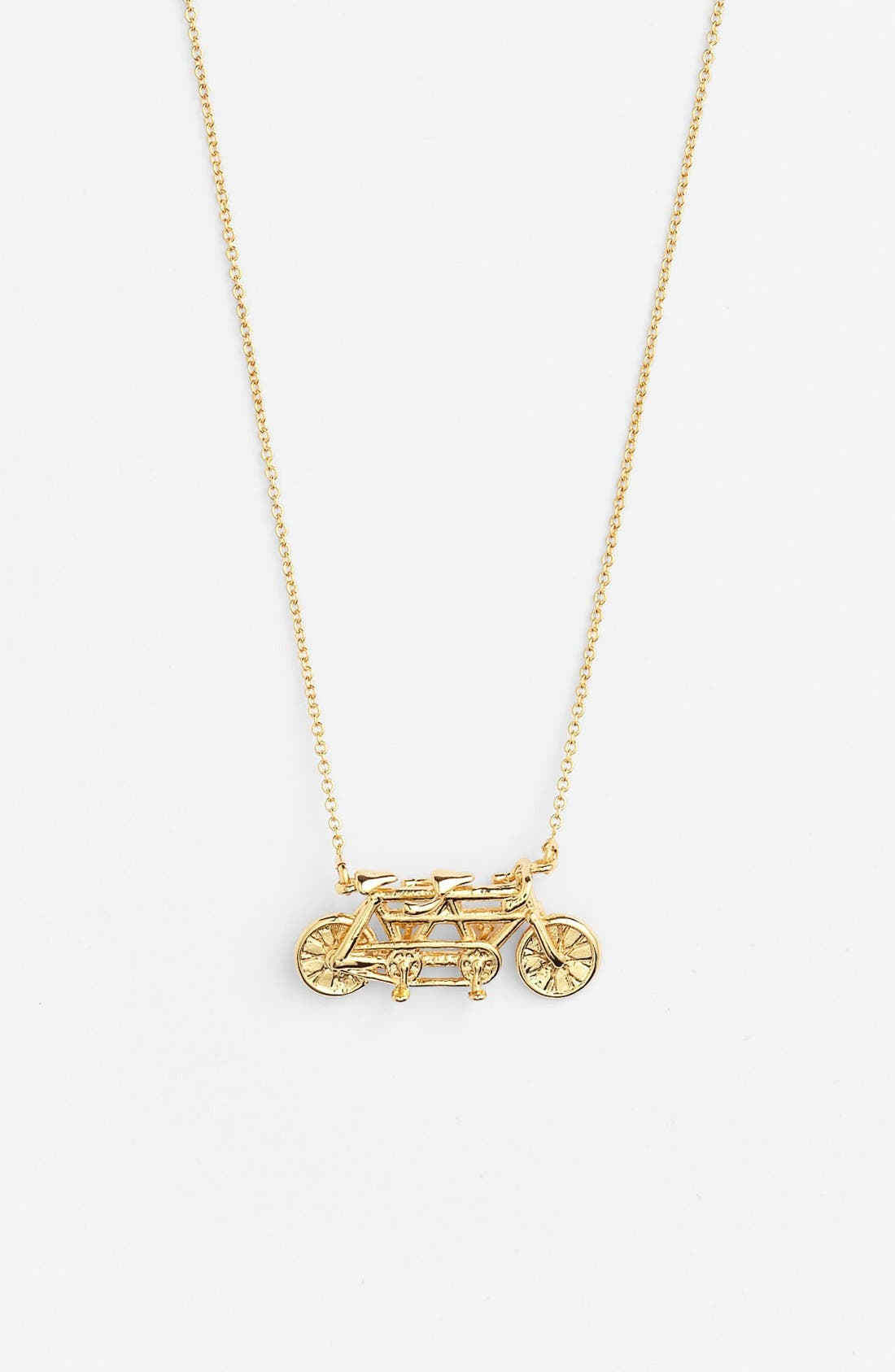 Alternate Image 1 Selected - kate spade new york 'in tandem' bike pendant necklace