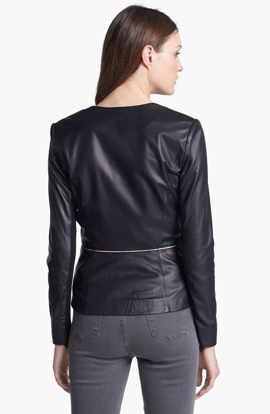Alternate Image 2  - Rebecca Taylor Leather Blazer