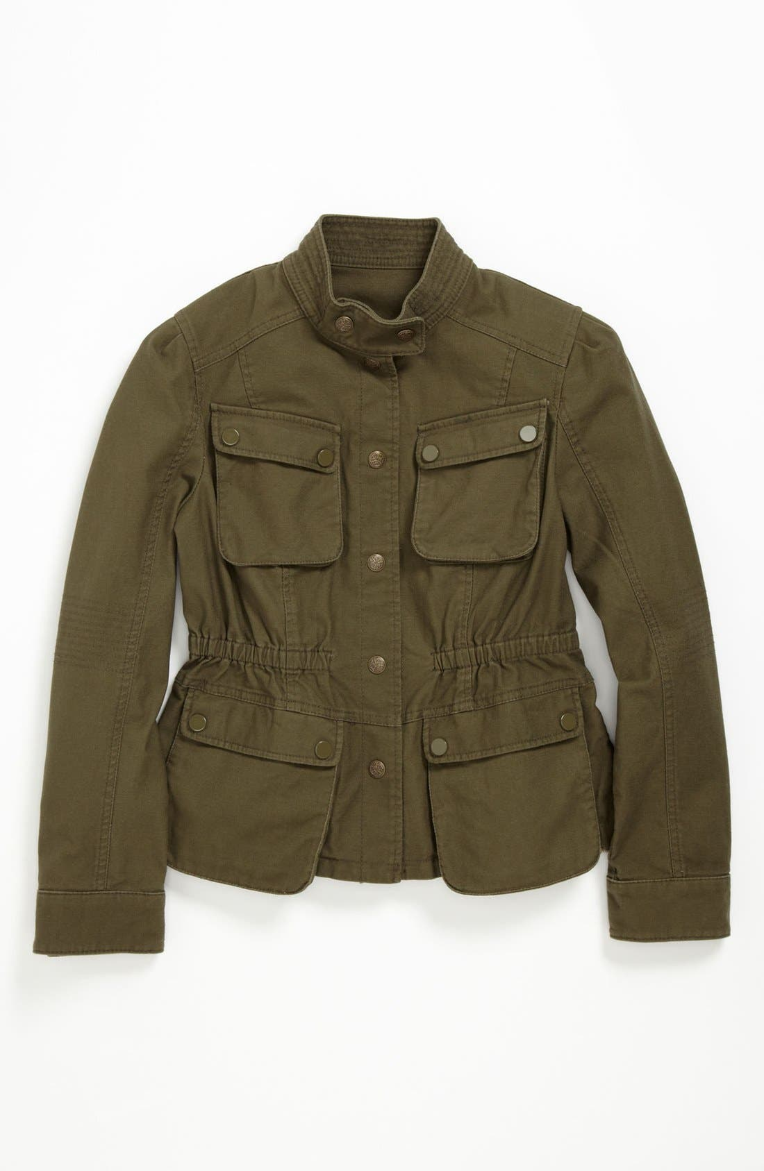 Alternate Image 1 Selected - Collection B Cotton Cargo Jacket (Big Girls)