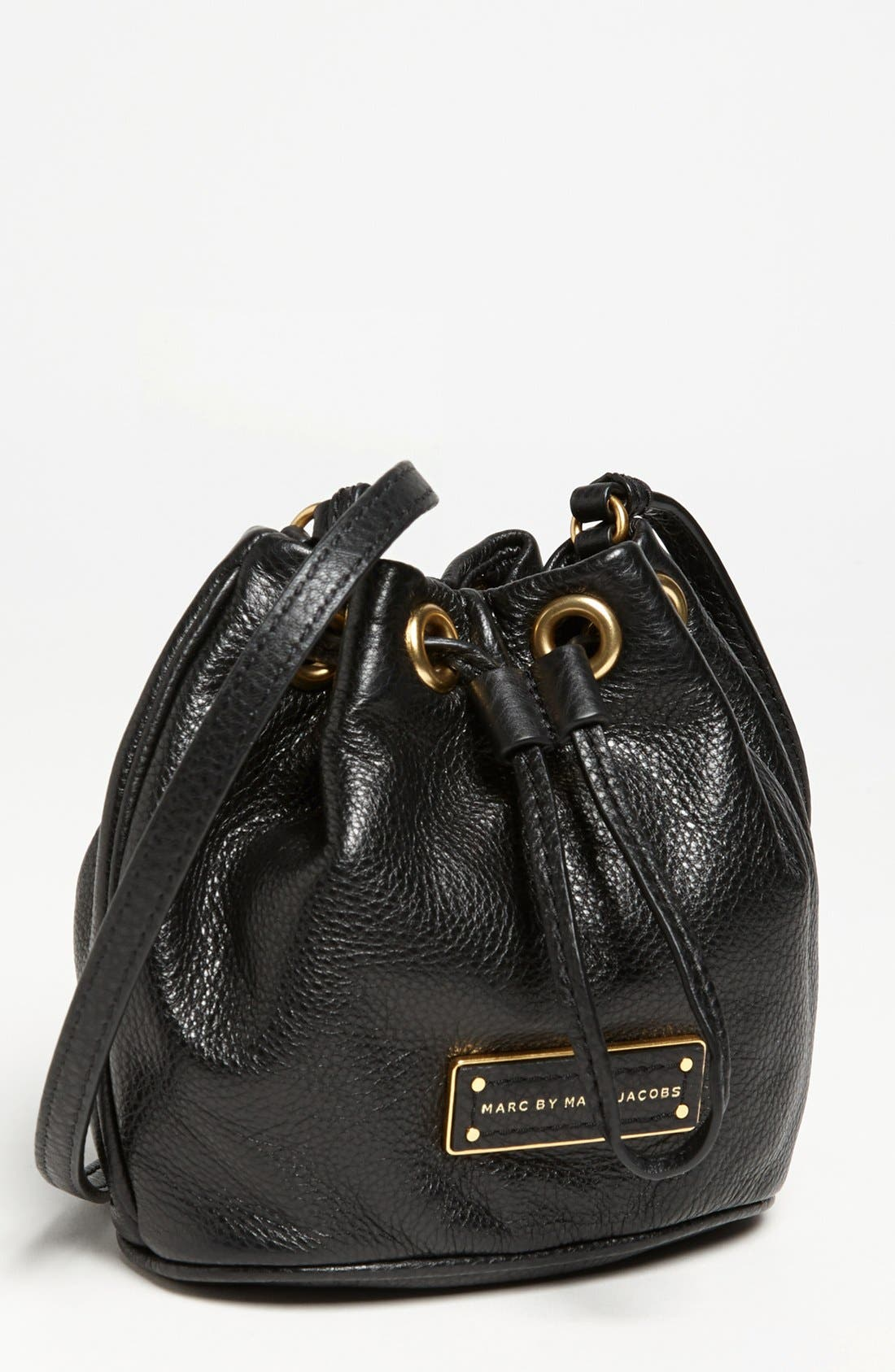 Main Image - MARC BY MARC JACOBS 'Too Hot to Handle - Mini' Leather Drawstring Crossbody Bag