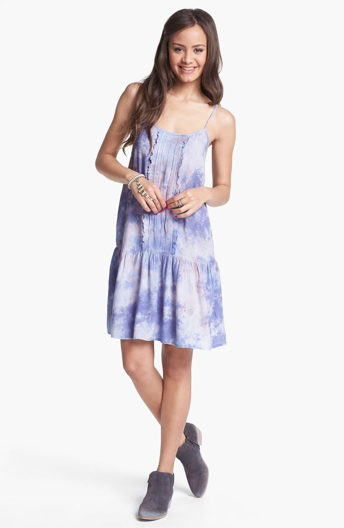 Alternate Image 1 Selected - Fire Drop Waist Dress (Juniors) (Online Only)