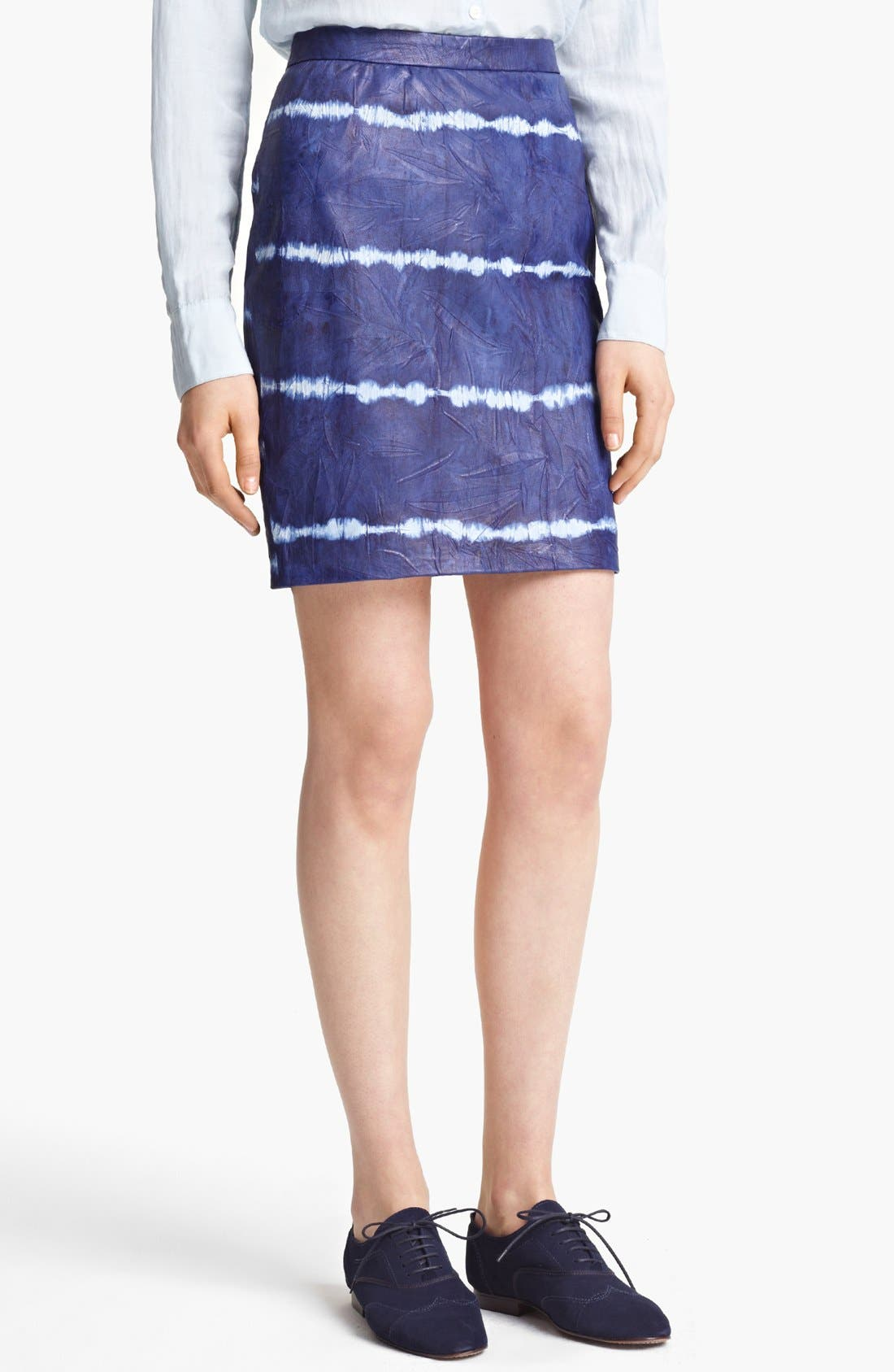 Main Image - Band of Outsiders Tie Dye Leather Skirt
